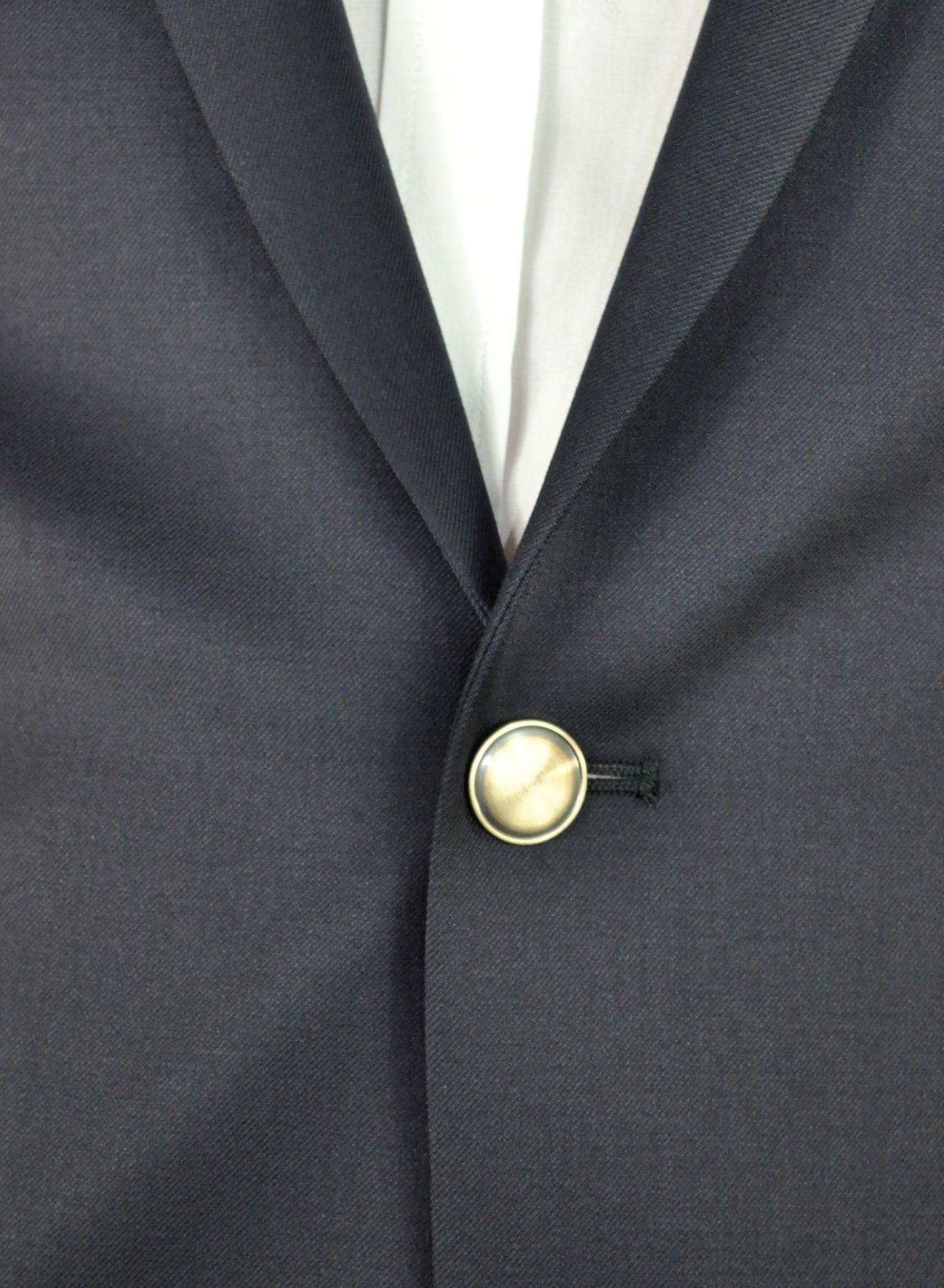 Atelier Torino - Classic Fit - Herren Blazer mit Goldknöpfen aus Super 100'S Schurwolle in Dunkelblau, Lucio SS (07007) Model: Lucio SS (7177) – Bild 2