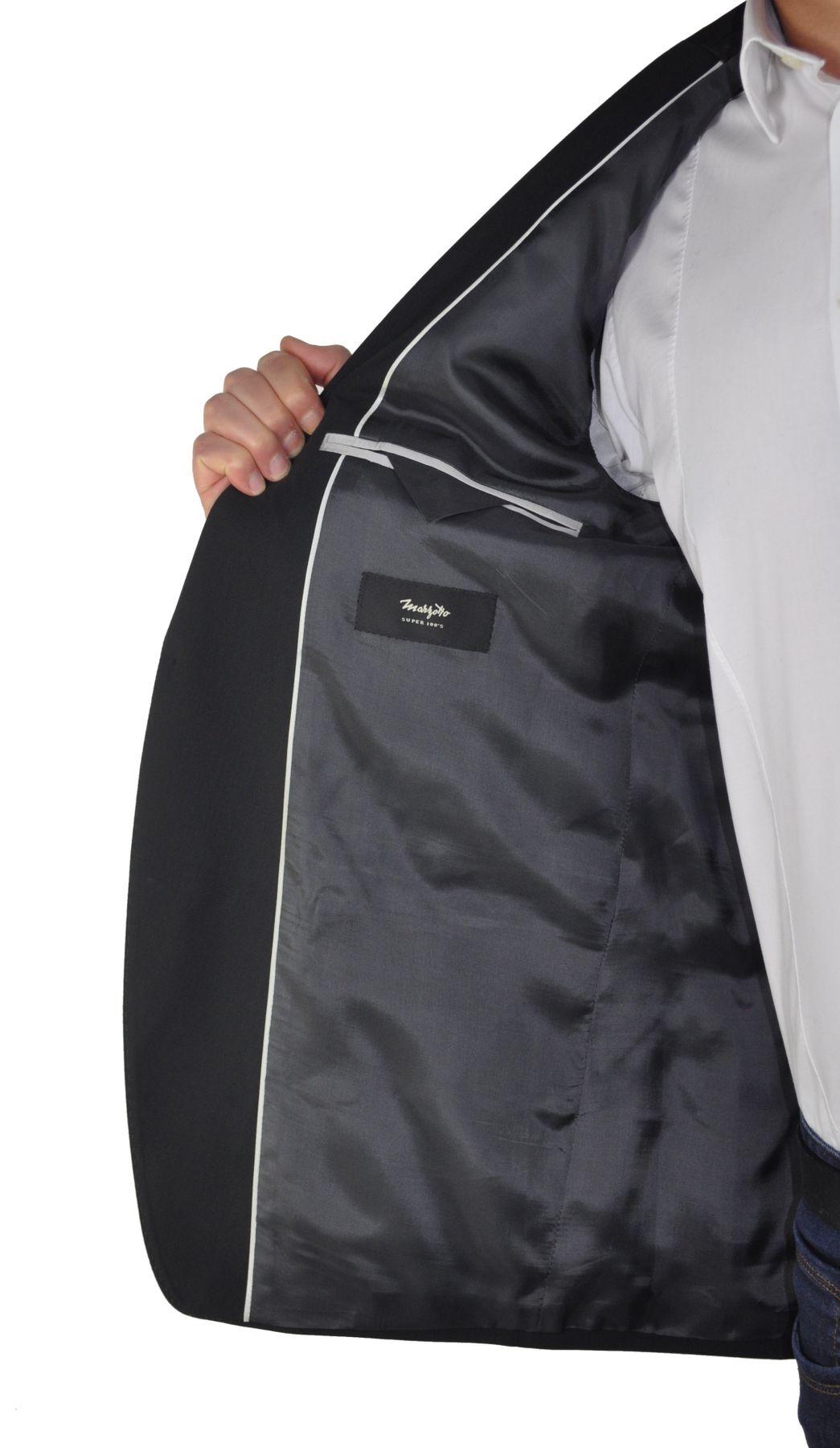 Atelier Torino - Classic Fit - Herren Baukasten Anzug in Schwarz, Weber: Marzotto, Giorgio SS/Bill (07050) – Bild 5