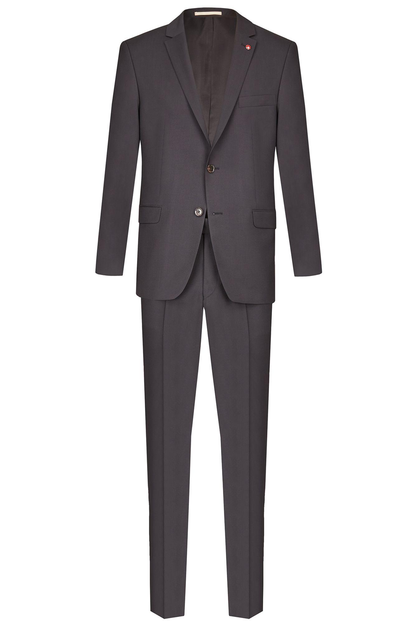 Atelier Torino Modern Fit Herren Cashmere Anzug in Blau, Grau oder Schwarz, Weber: Marzotto, Roma SSAldo (07058)