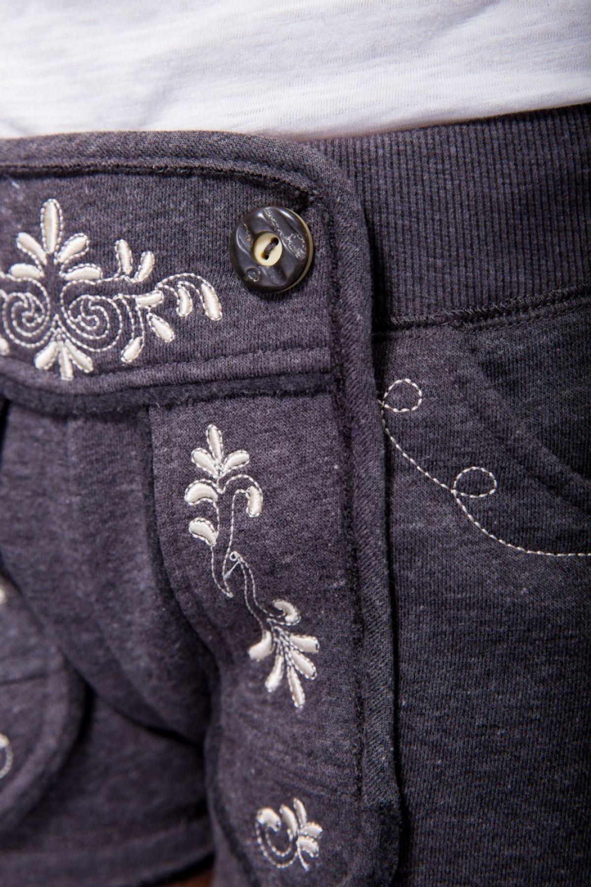 Krüger - Damen Trachtenhose im Lederhosen-Look in Grau, Chill-Zone (Artikelnummer: 38305-44) – Bild 3
