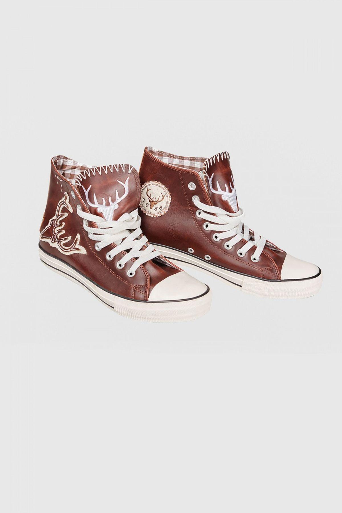 Krüger - Herren Trachtenschuhe -Sneaker- im modernen Trachten-Look in Braun, Wildfang (Artikelnummer: 9008-7) – Bild 2