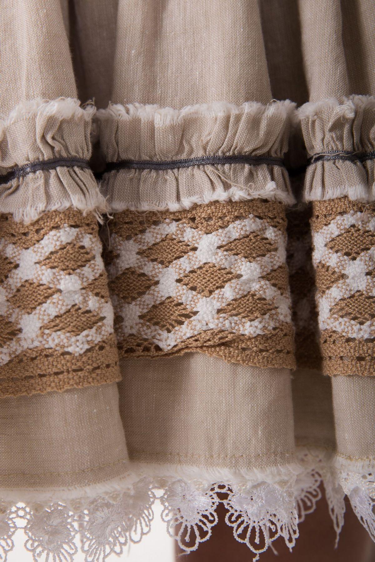 Krüger - Damen Trachtenrock mit Lederhosen Steg in Grau, Helene (Artikelnummer: 32335-15) – Bild 6