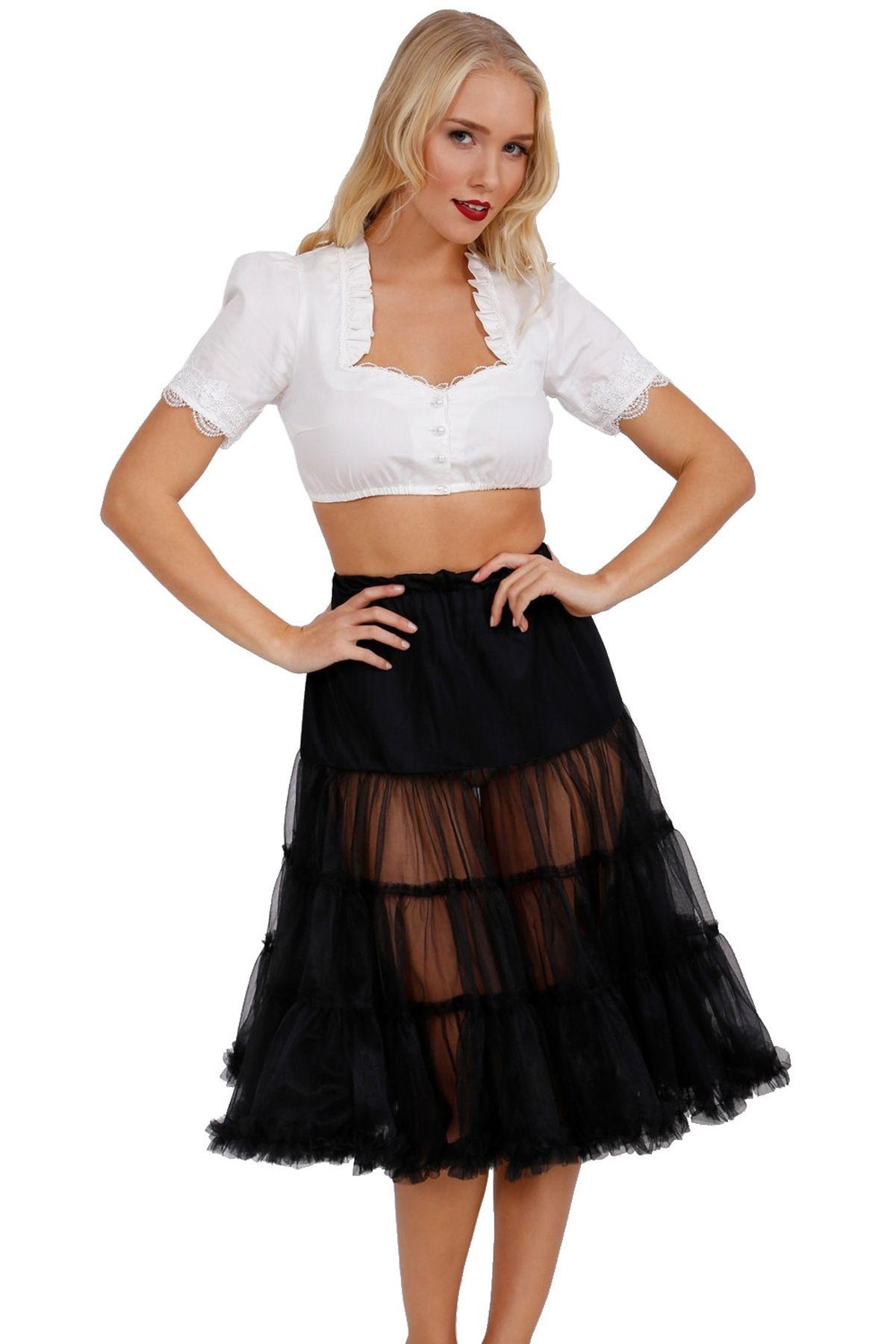 Krüger - Damen Petticoat, 70 cm Länge, Taillenweit ist frei regulierbar von Gr. 32 bis 46 in Schwarz , Black 70 (Artikelnummer: 470-4) – Bild 1