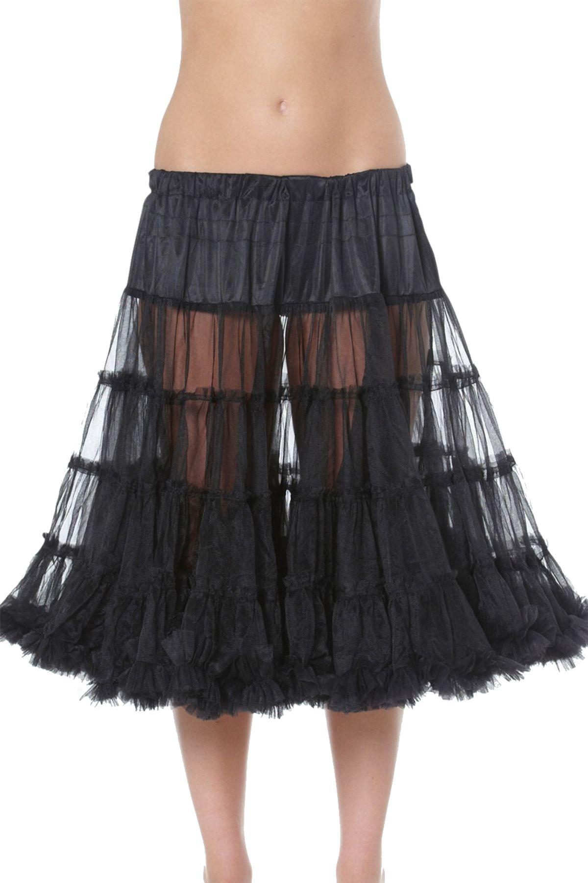 Krüger - Damen Petticoat, 80 cm Länge, Taillenweit ist frei regulierbar von Gr. 32 bis 46 in Schwarz , Black 80 (Artikelnummer: 480-4) – Bild 2