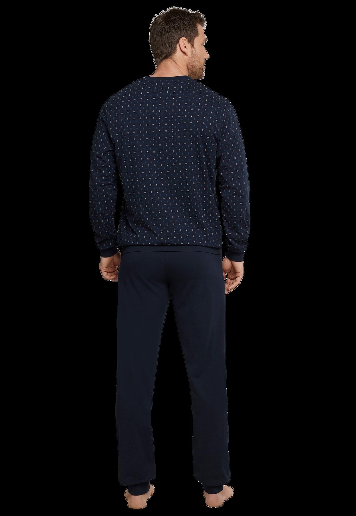 Seidensticker - Herren Pyjama lang, dunkelblau (159000) – Bild 2