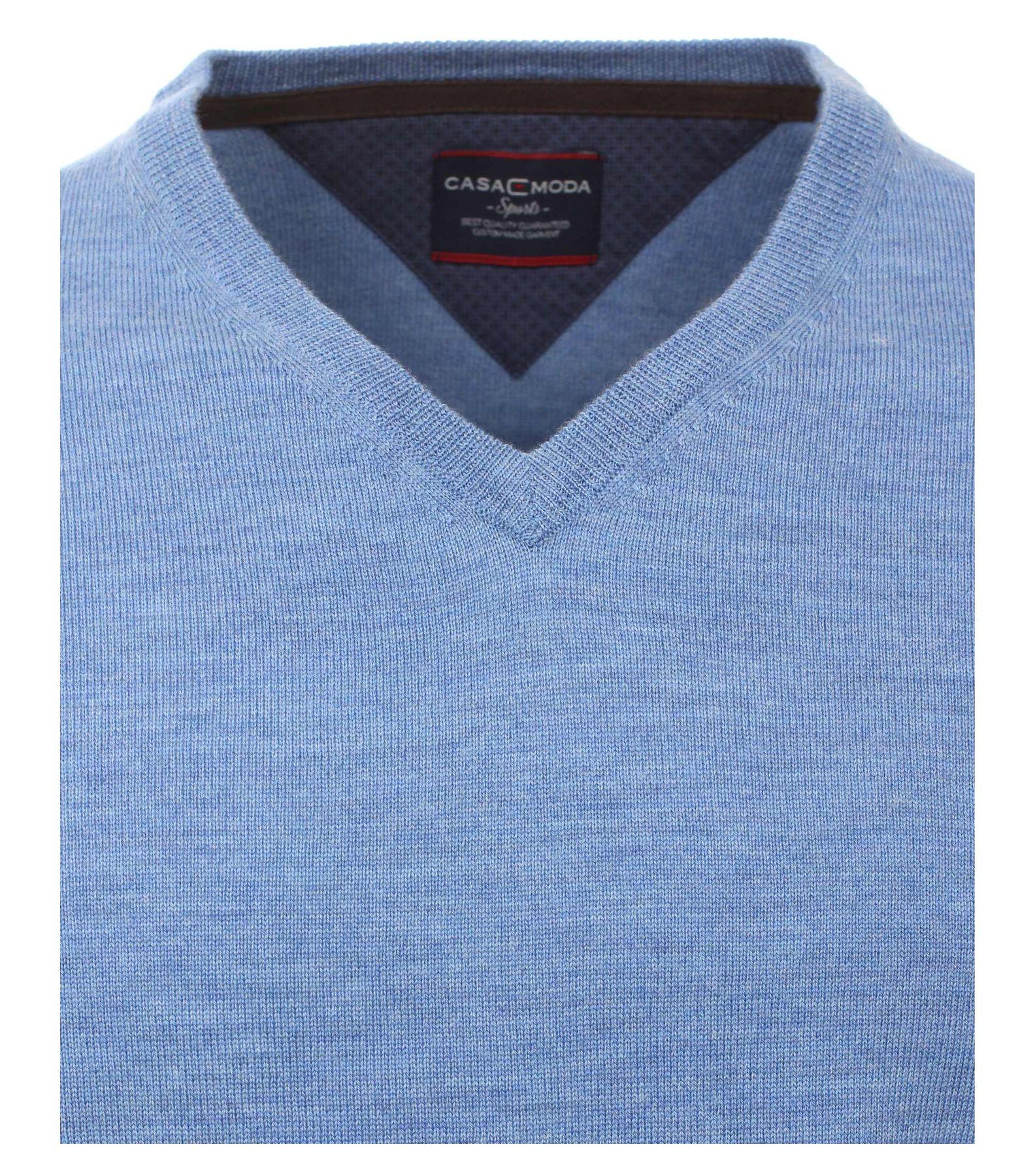 Casa Moda - Herren Merino Pullover mit V-Ausschnitt (462519900) – Bild 4