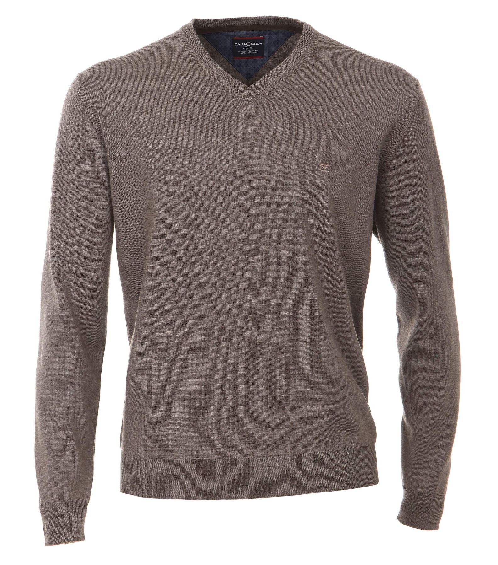 Casa Moda - Herren Merino Pullover mit V-Ausschnitt (462519900) – Bild 5