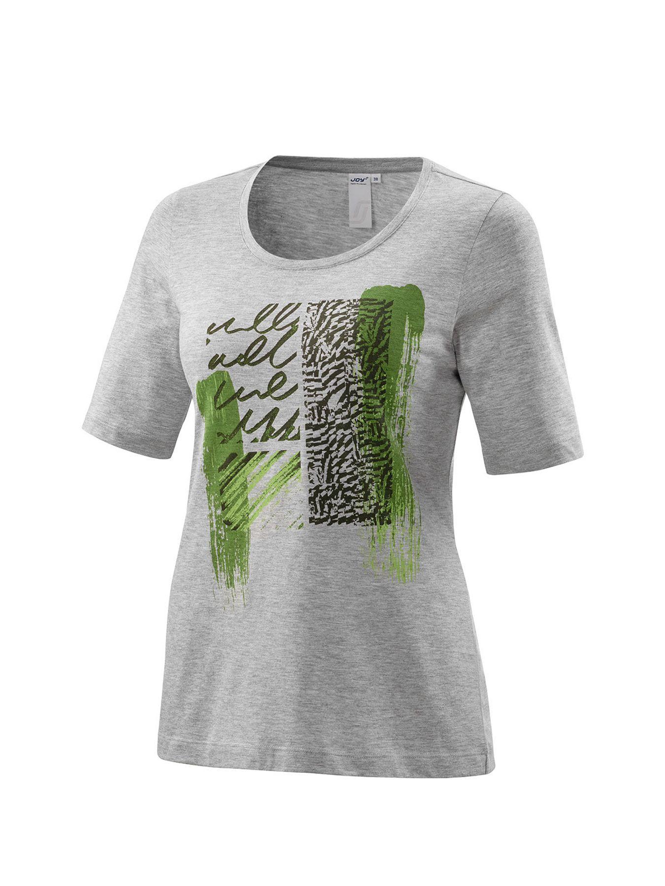 Joy - Damen Sport und Freizeit Shirt mit grafischen Brustprint, Hanny (34510) – Bild 2