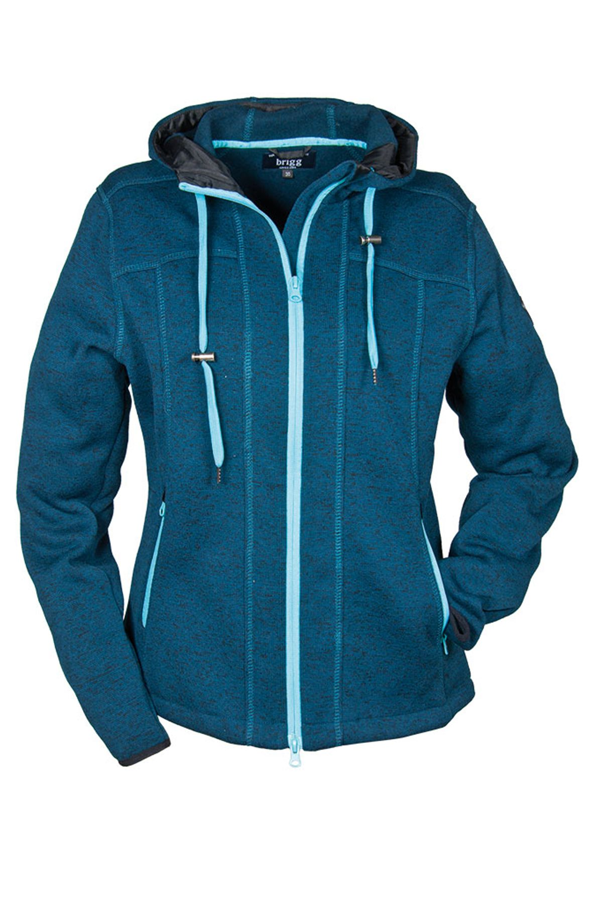 Brigg - Damen Fleecejacke in Strickoptik , H/W (10723534) – Bild 1