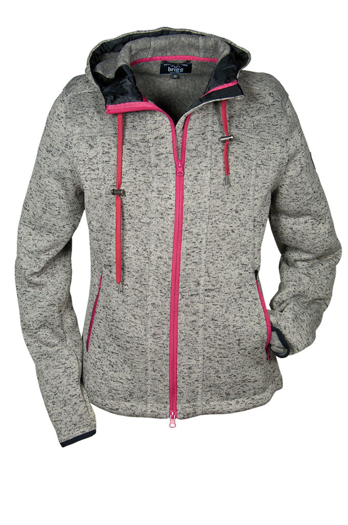 Brigg - Damen Fleecejacke in Strickoptik , H/W (10723534) – Bild 2