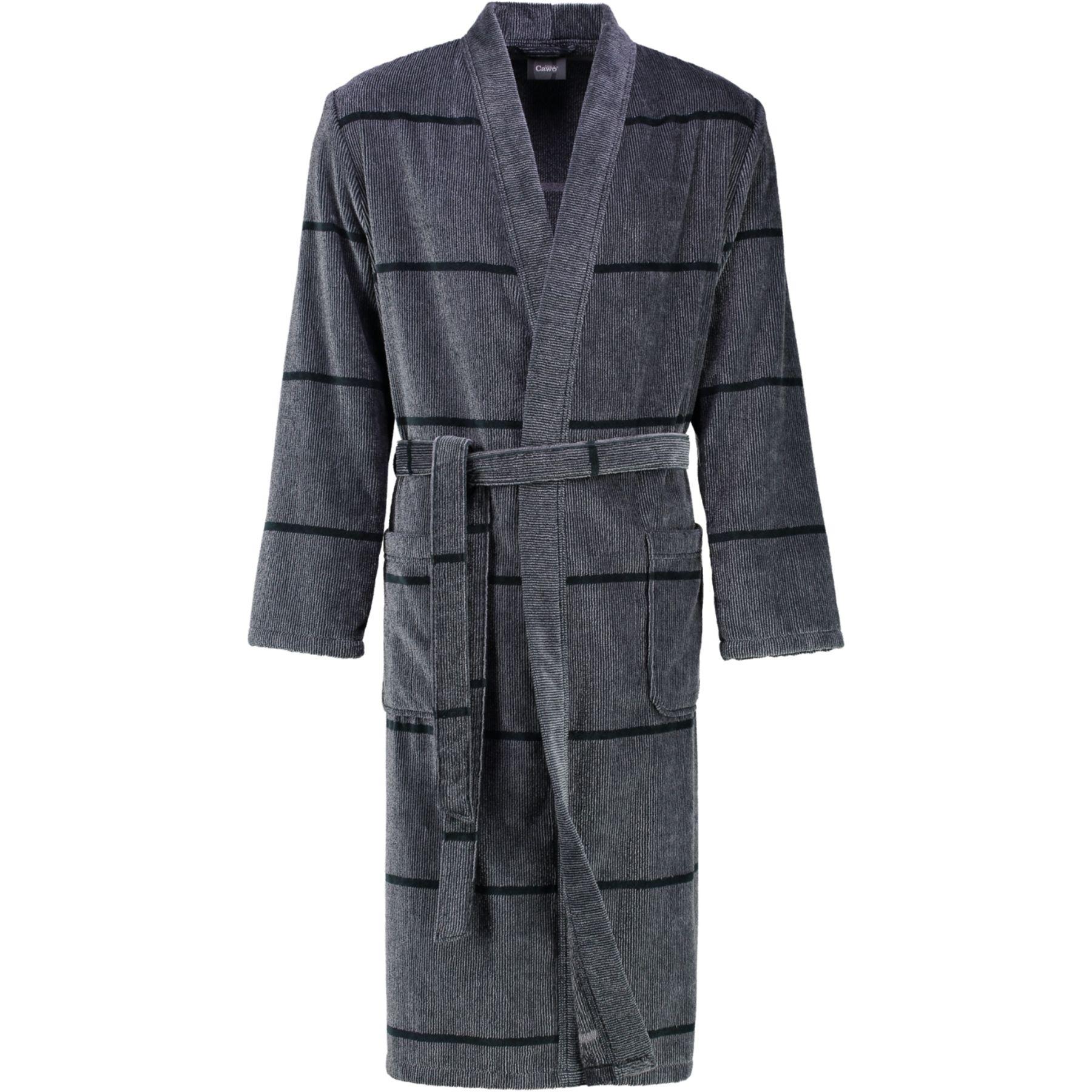 Cawö - Herren Walkvelours Bademantel Kimono (2847) – Bild 3