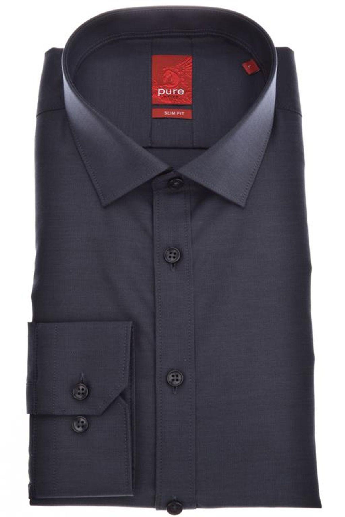 Pure - Slim Fit - Herren Langarm Hemd, verschiedene Farben, XS-XXL (3376-128) – Bild 2
