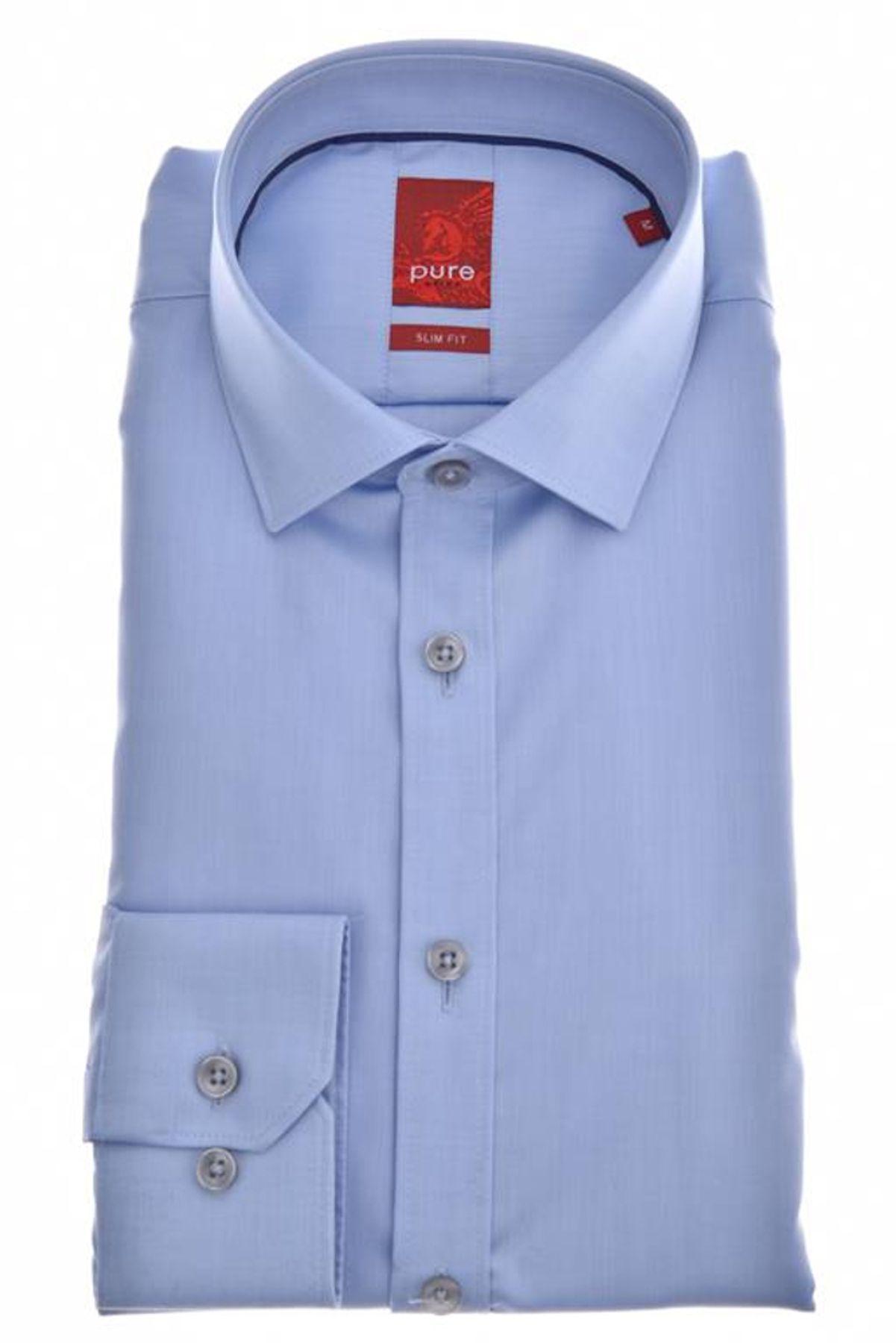Pure - Slim Fit - Herren Langarm Hemd, verschiedene Farben, XS-XXL (3376-128) – Bild 6