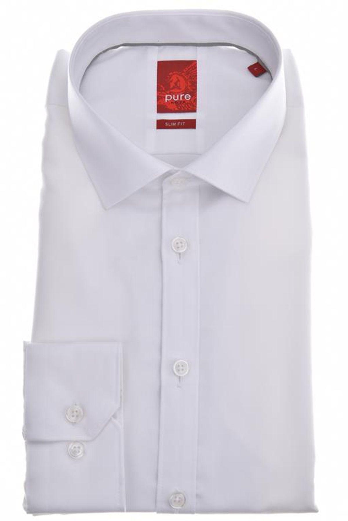 Pure - Slim Fit - Herren Langarm Hemd, verschiedene Farben, XS-XXL (3376-128) – Bild 4