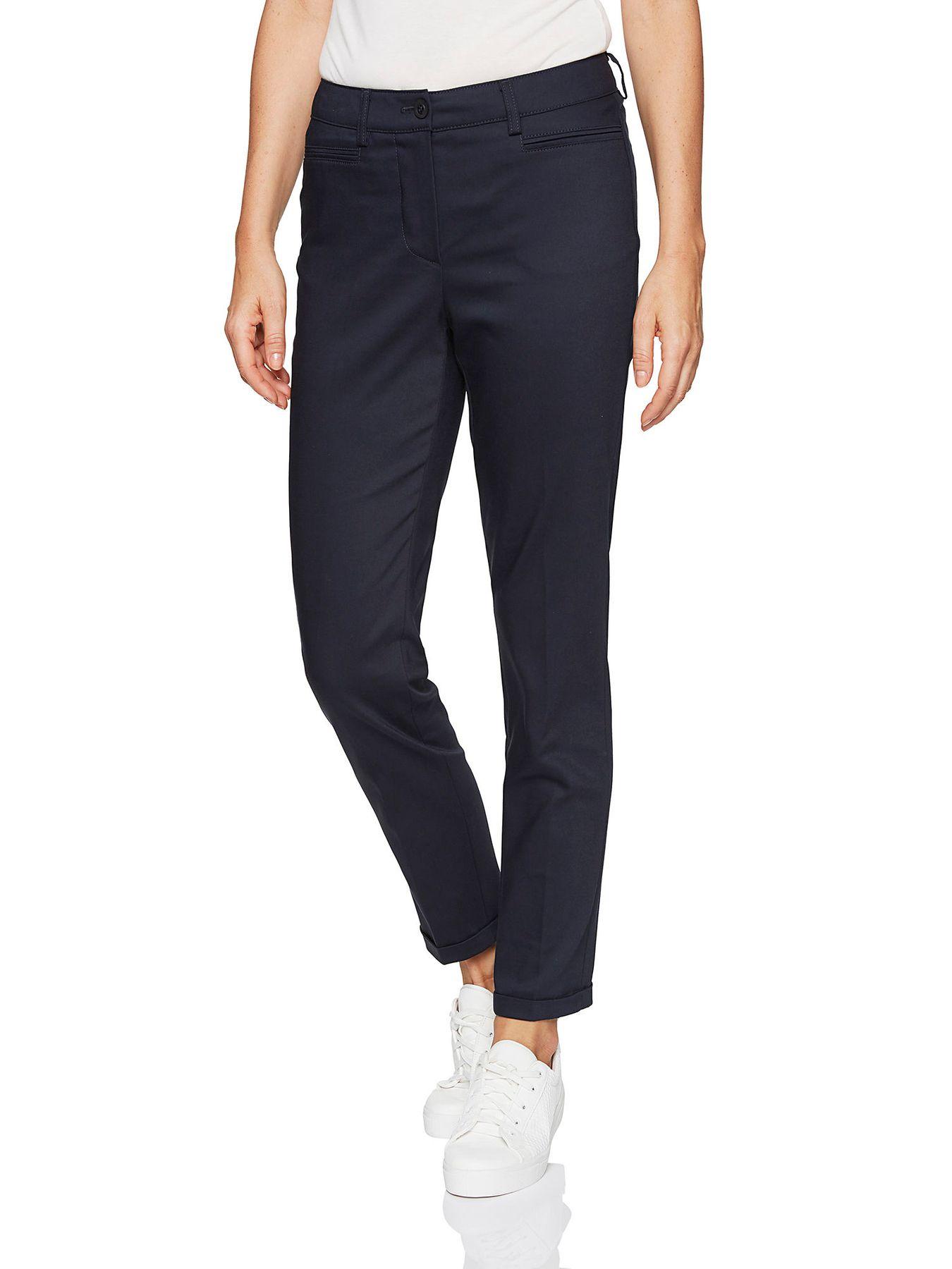 Atelier Gardeur - Slim Fit - Damen Röhrenhose aus Baumwoll-Materialmix in Marineblau Denise  (600411) – Bild 2