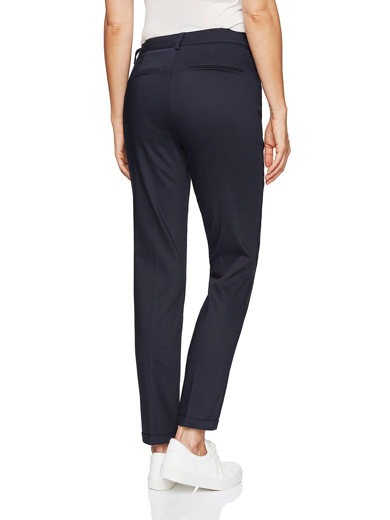 Atelier Gardeur - Slim Fit - Damen Röhrenhose aus Baumwoll-Materialmix in Marineblau Denise  (600411) – Bild 4