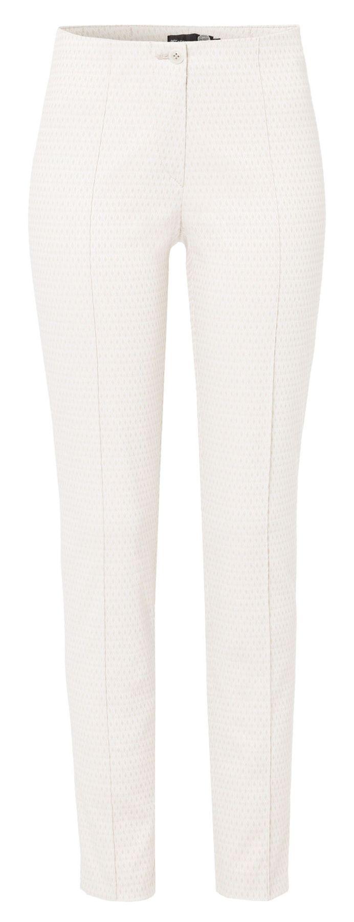Atelier Gardeur - Super Slim Fit - Damen Stoffhose mit Jacquard Rautenmuster - Zene1 (641361) – Bild 1