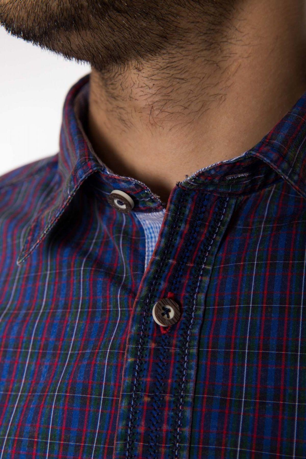 Krüger - Herren Trachtenhemd in rot oder blau, Freddy (94102) – Bild 8