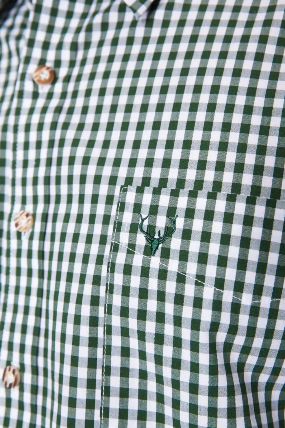 Krüger - Herren Trachtenhemd in grün, Tannengrün (951-156) – Bild 4