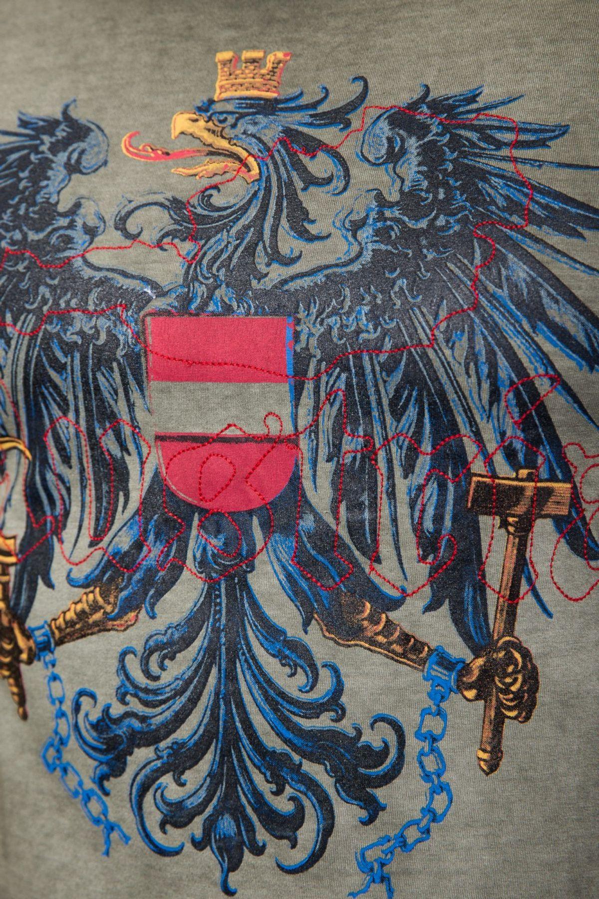 Krüger - Herren Trachten T-Shirt, Österreich  (Artikelnummer: 92213-7) – Bild 4