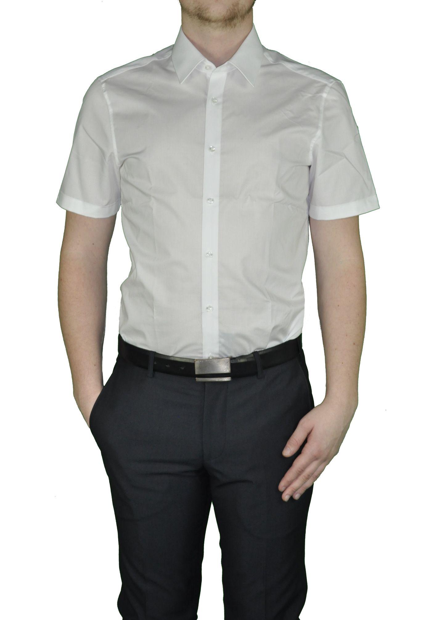 newest 5451c 3e8c1 Bügelfreies Herren Slim fit kurzarm Hemd in verschiedenen Farben Marke  Redmond (400930)