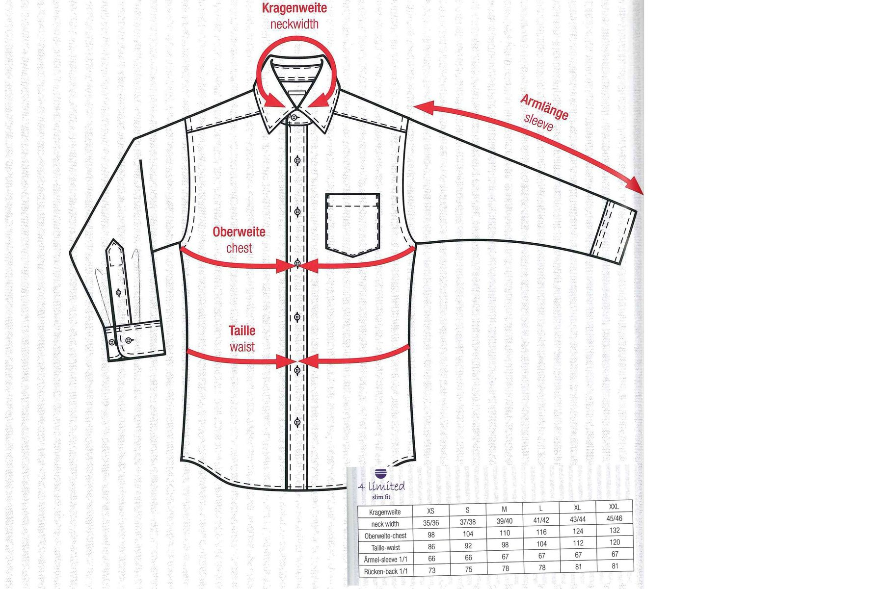 Bügelfreies Herren Slim fit kurzarm Hemd in verschiedenen Farben Marke Redmond (400930) – Bild 4