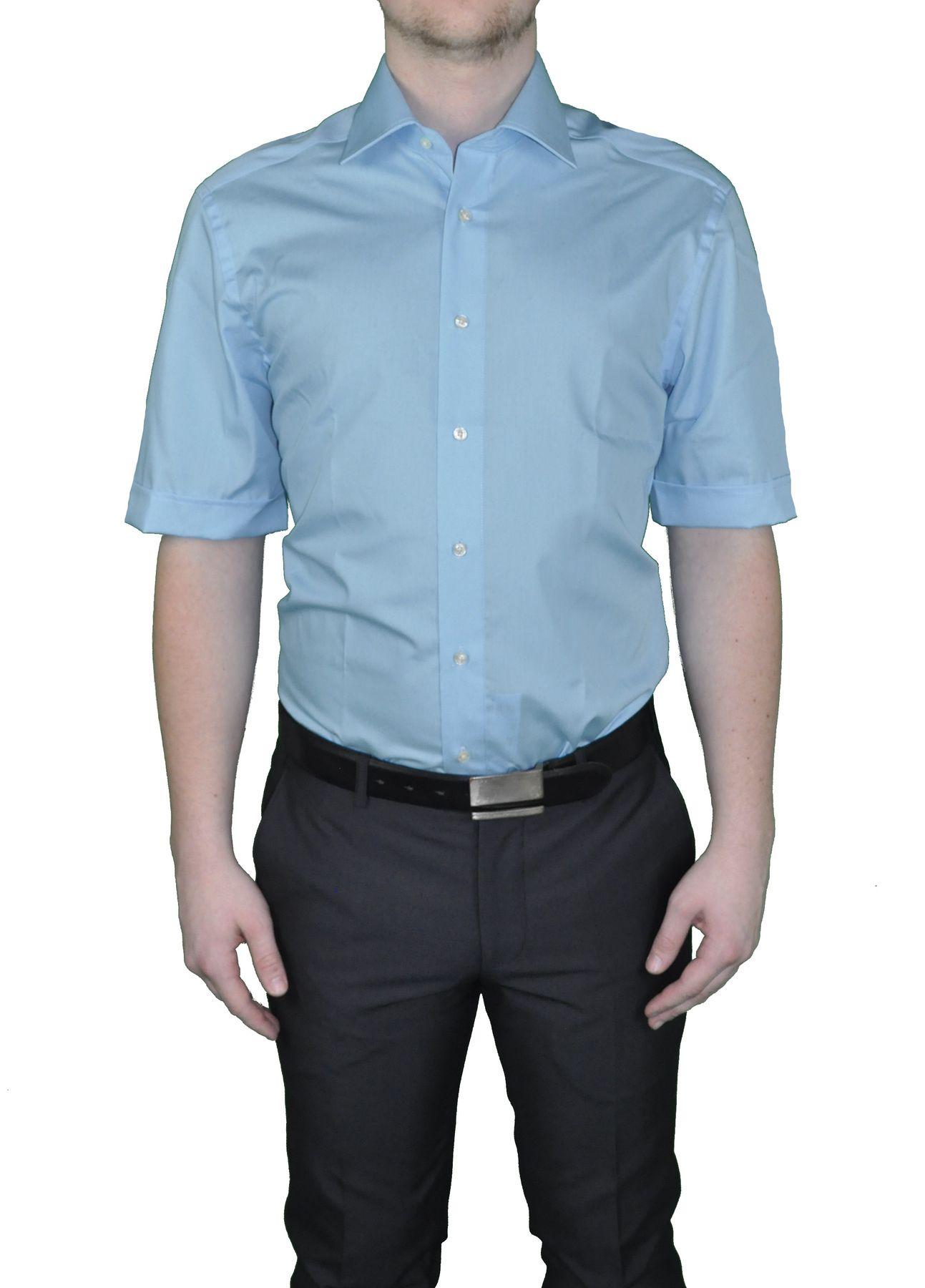 Bügelfreies Modern fit Herren Kurzarm Hemd - Body Cut -  in verschiedenen Farben Marke Redmond (150910) – Bild 4