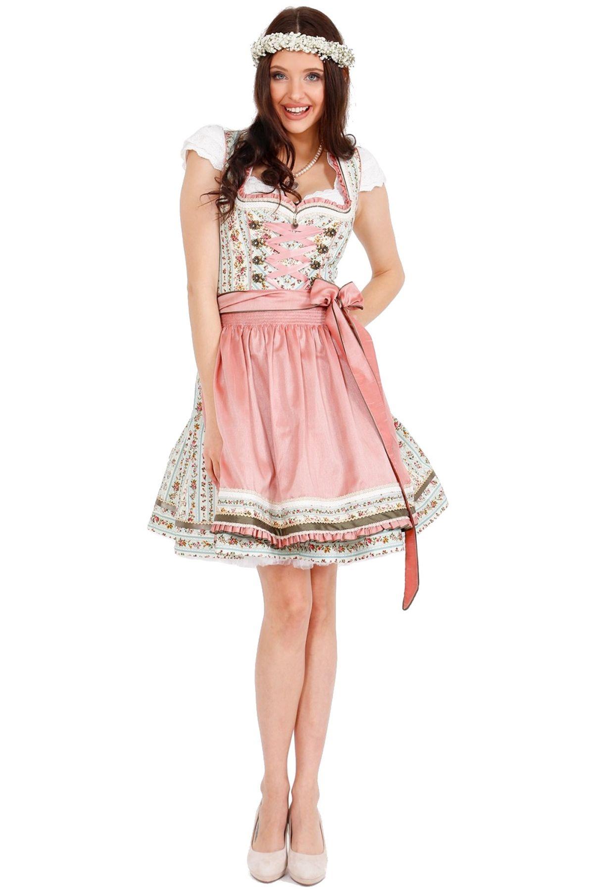 50cm Damen Trachten Dirndl in rose Dirndl Elva 46725-233 Krüger
