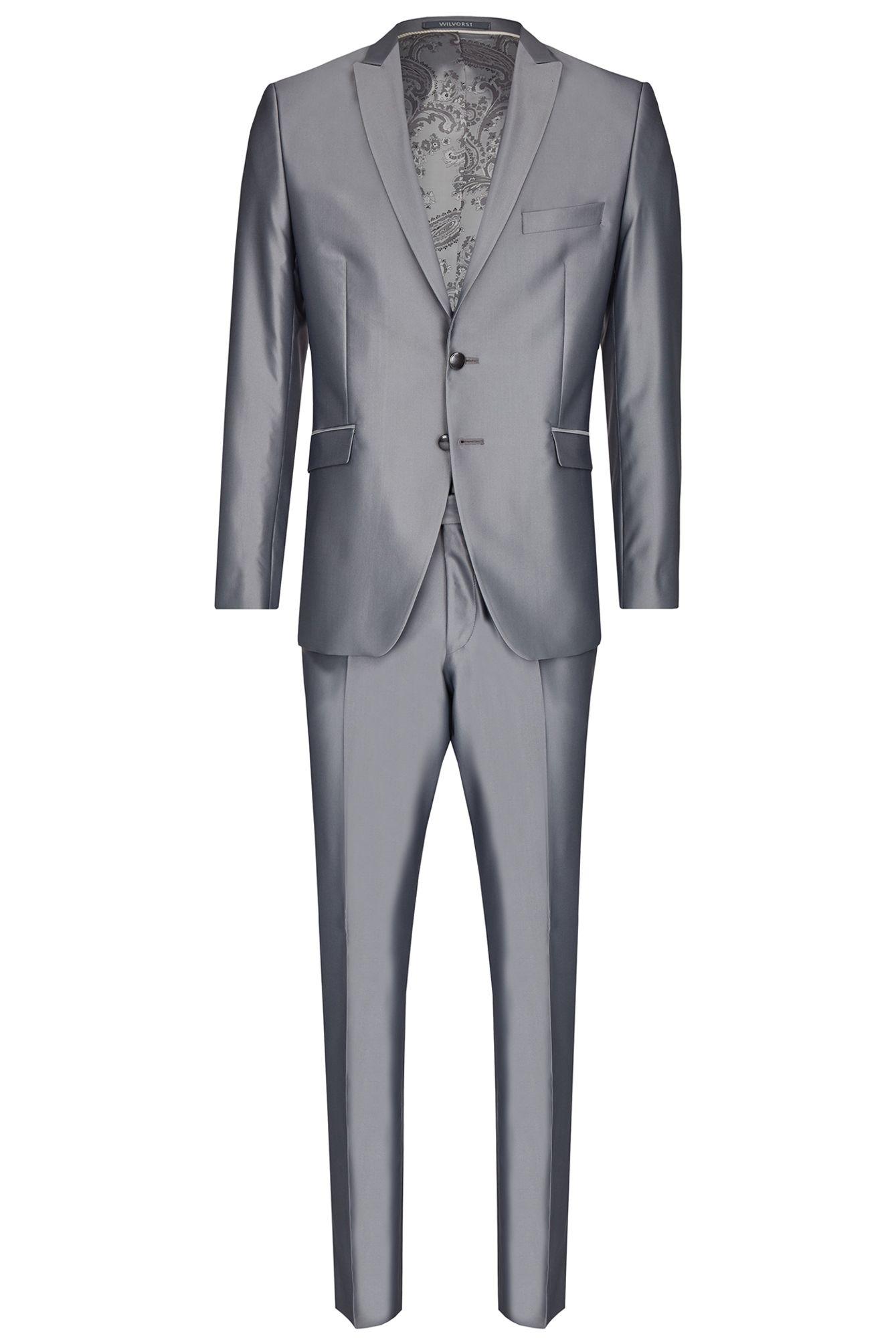 Wilvorst Slim Line Herren Anzug In Grau Art 453202 26 Modell