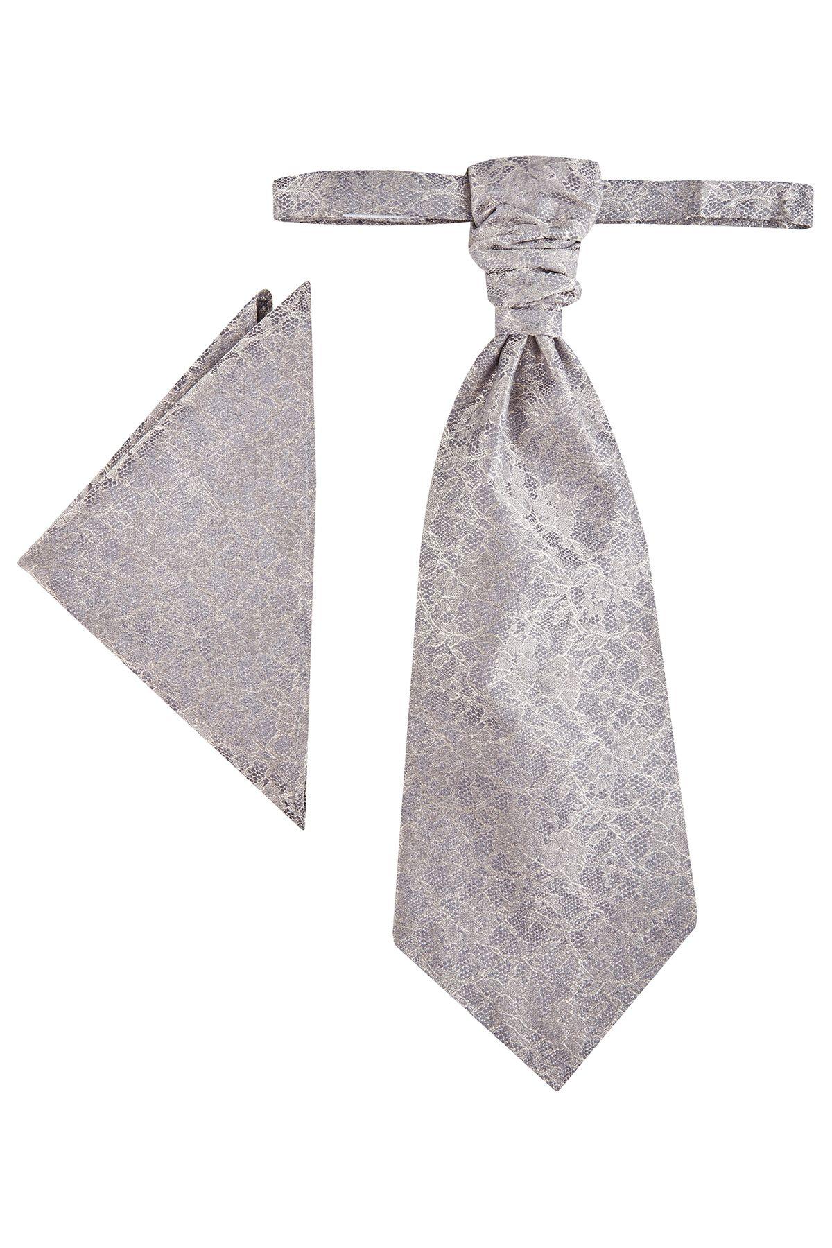 Wilvorst - Krawattenplastron mit Einstecktuch (Art.467103/25 Modell: 0622)