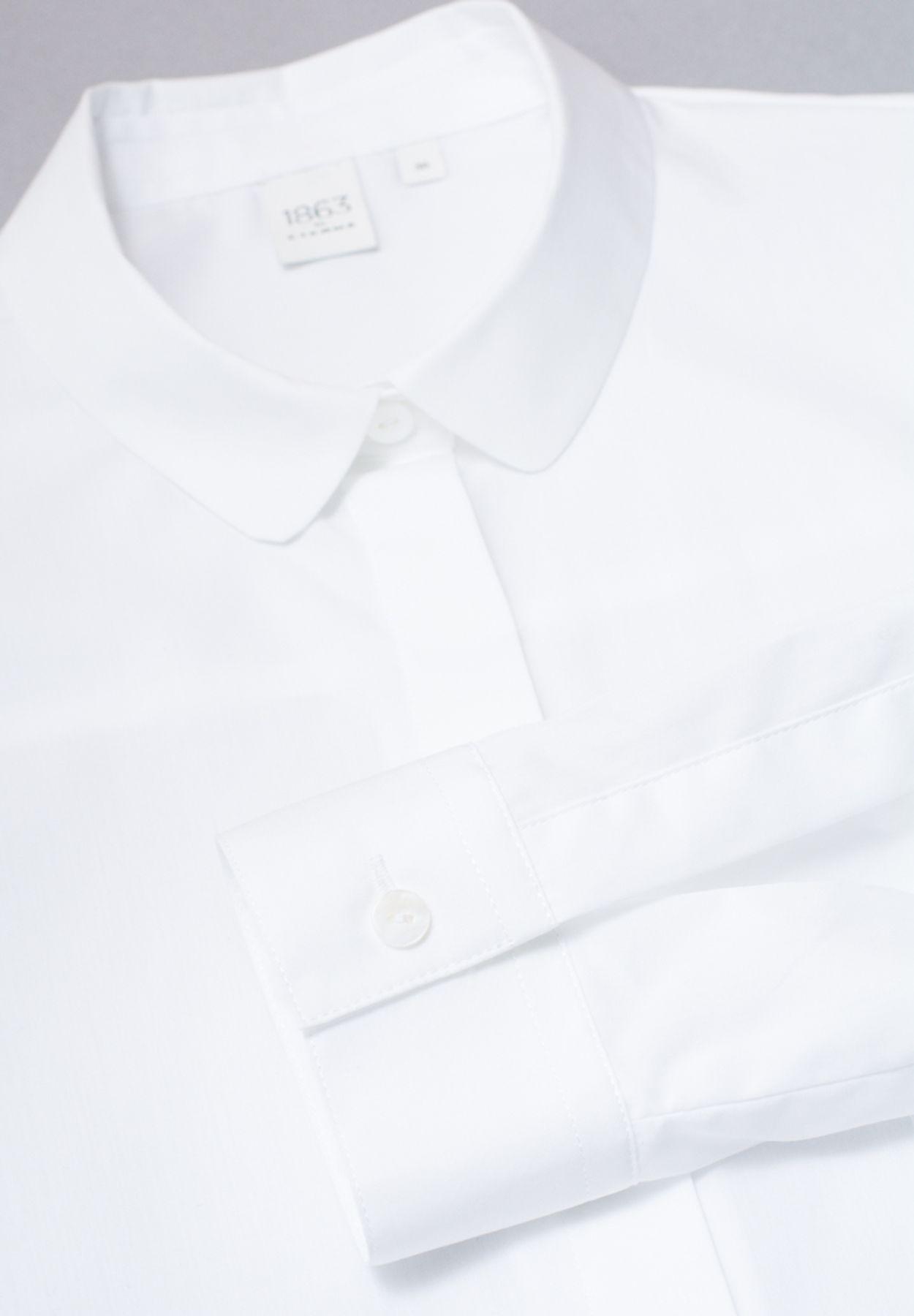 Eterna - Slim Fit - Damen Langarm Bluse in Weiß, Bügelfrei (5003 DY01) – Bild 6