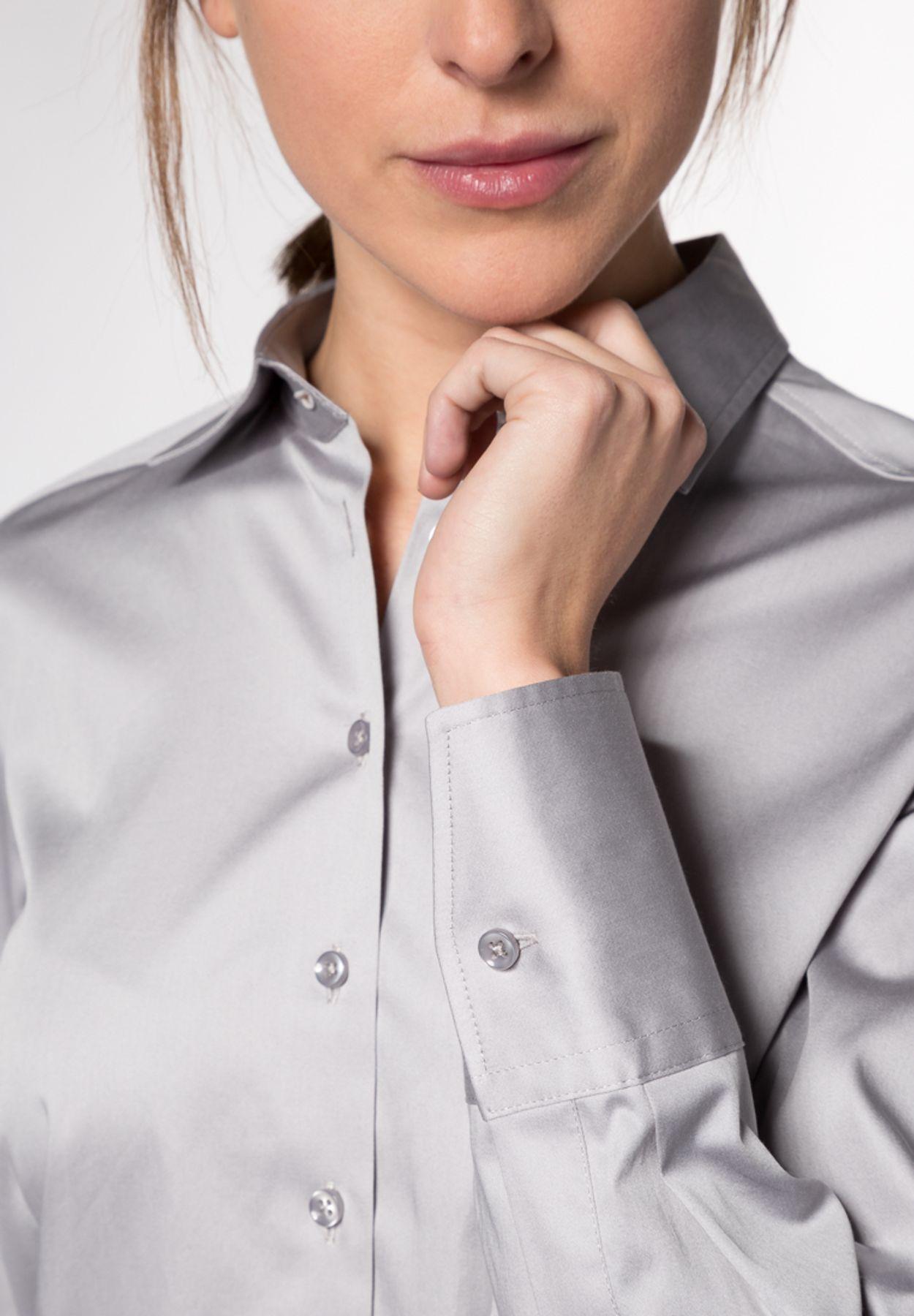 Eterna - Comfort Fit - Damen Langarm Bluse Modern Classic Stretch in versch. Farben (5352 D708) – Bild 12