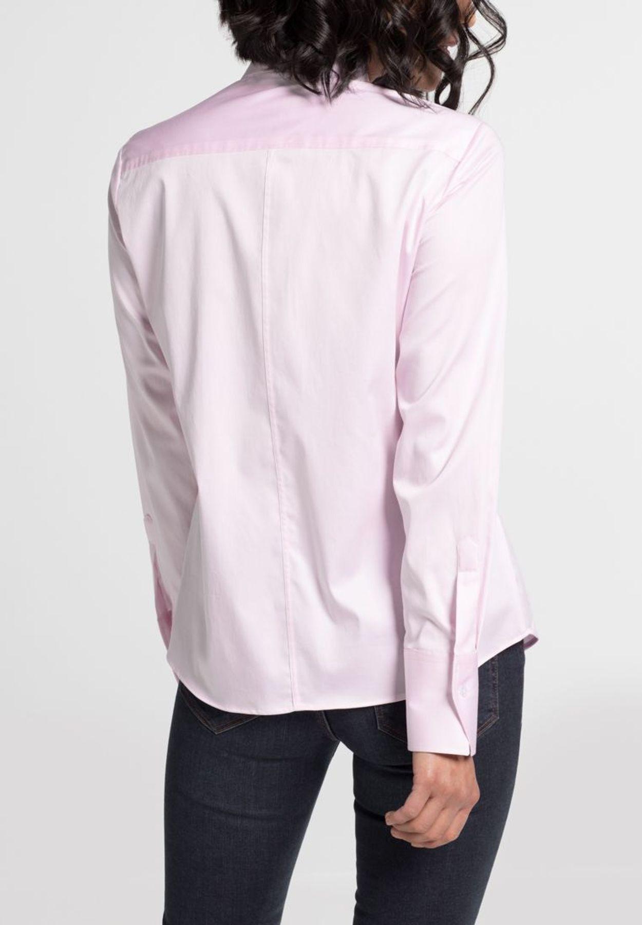 Eterna - Comfort Fit - Damen Langarm Bluse Modern Classic Stretch in versch. Farben (5352 D708) – Bild 21