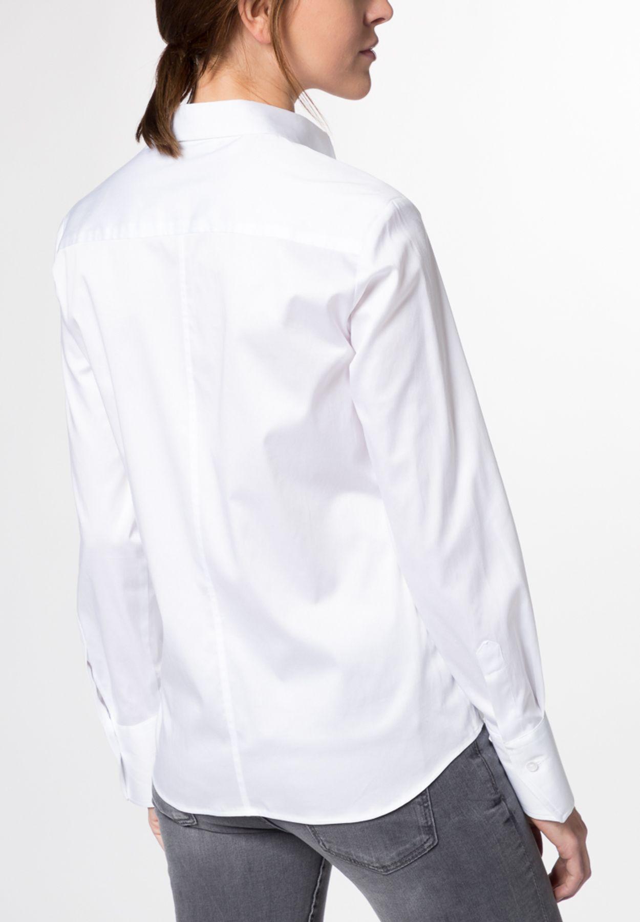 Eterna - Comfort Fit - Damen Langarm Bluse Modern Classic Stretch in versch. Farben (5352 D708) – Bild 3