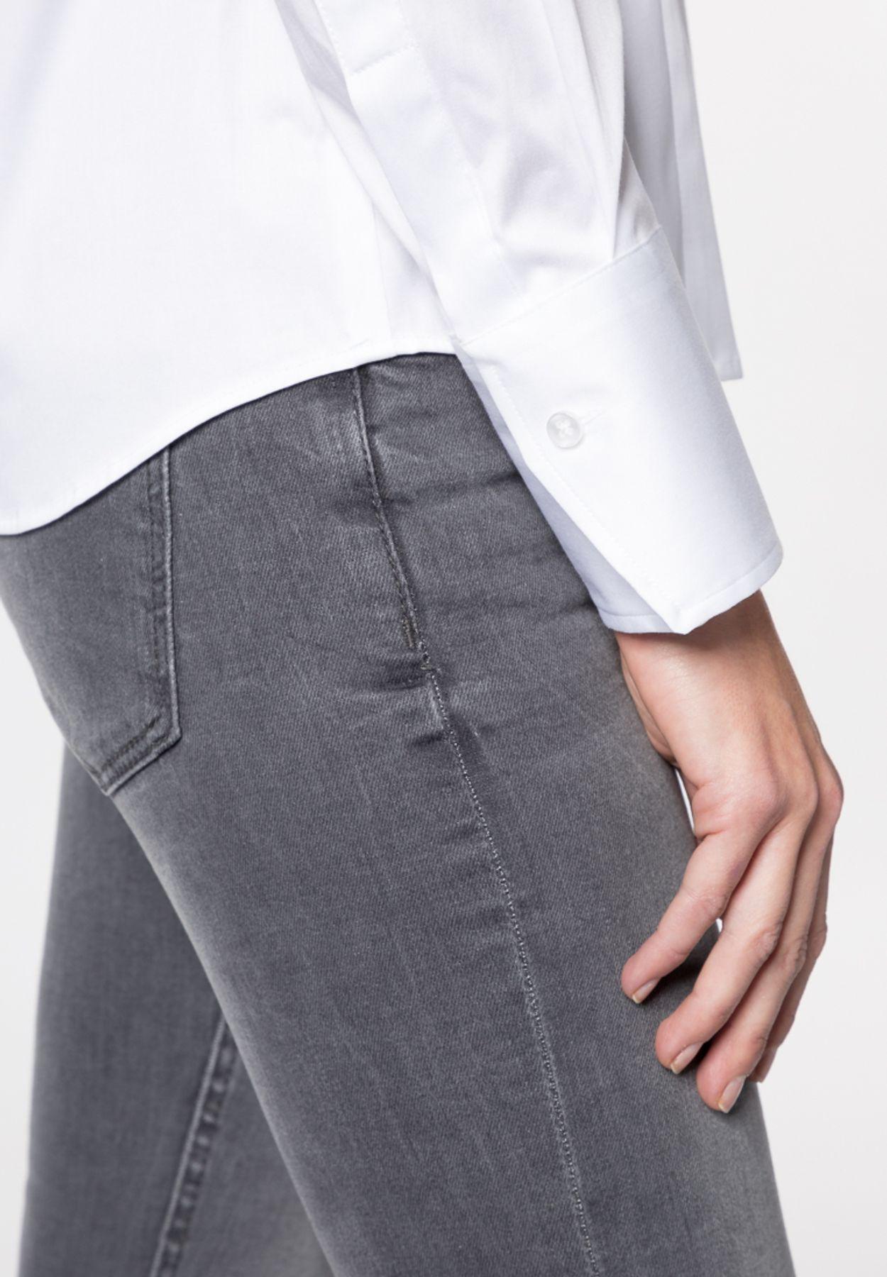 Eterna - Comfort Fit - Damen Langarm Bluse Modern Classic Stretch in versch. Farben (5352 D708) – Bild 4