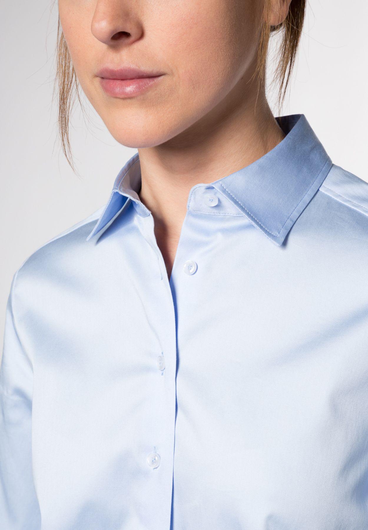 Eterna - Comfort Fit - Damen Langarm Bluse Modern Classic Stretch in versch. Farben (5352 D708) – Bild 9