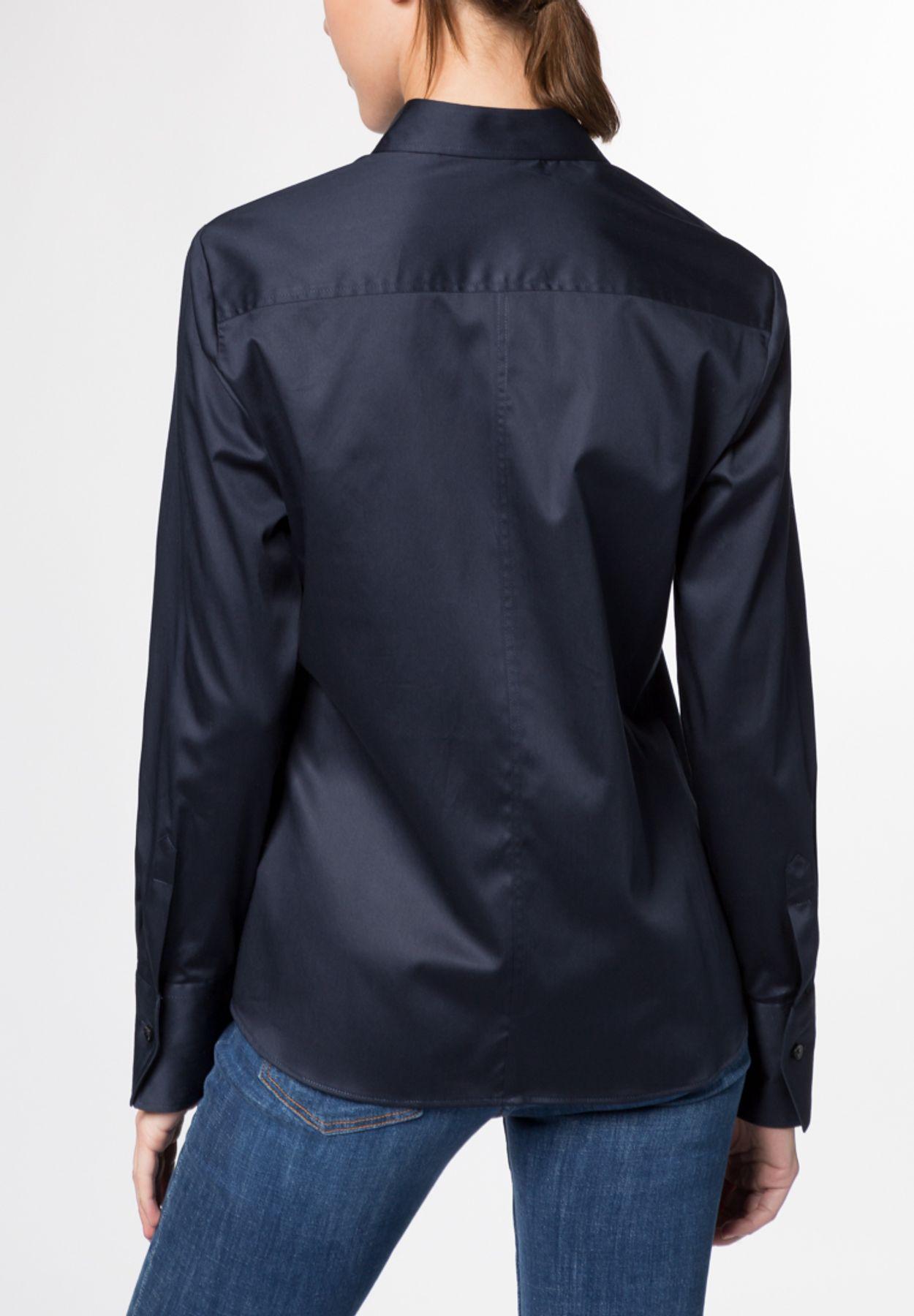 Eterna - Comfort Fit - Damen Langarm Bluse Modern Classic Stretch in versch. Farben (5352 D708) – Bild 15