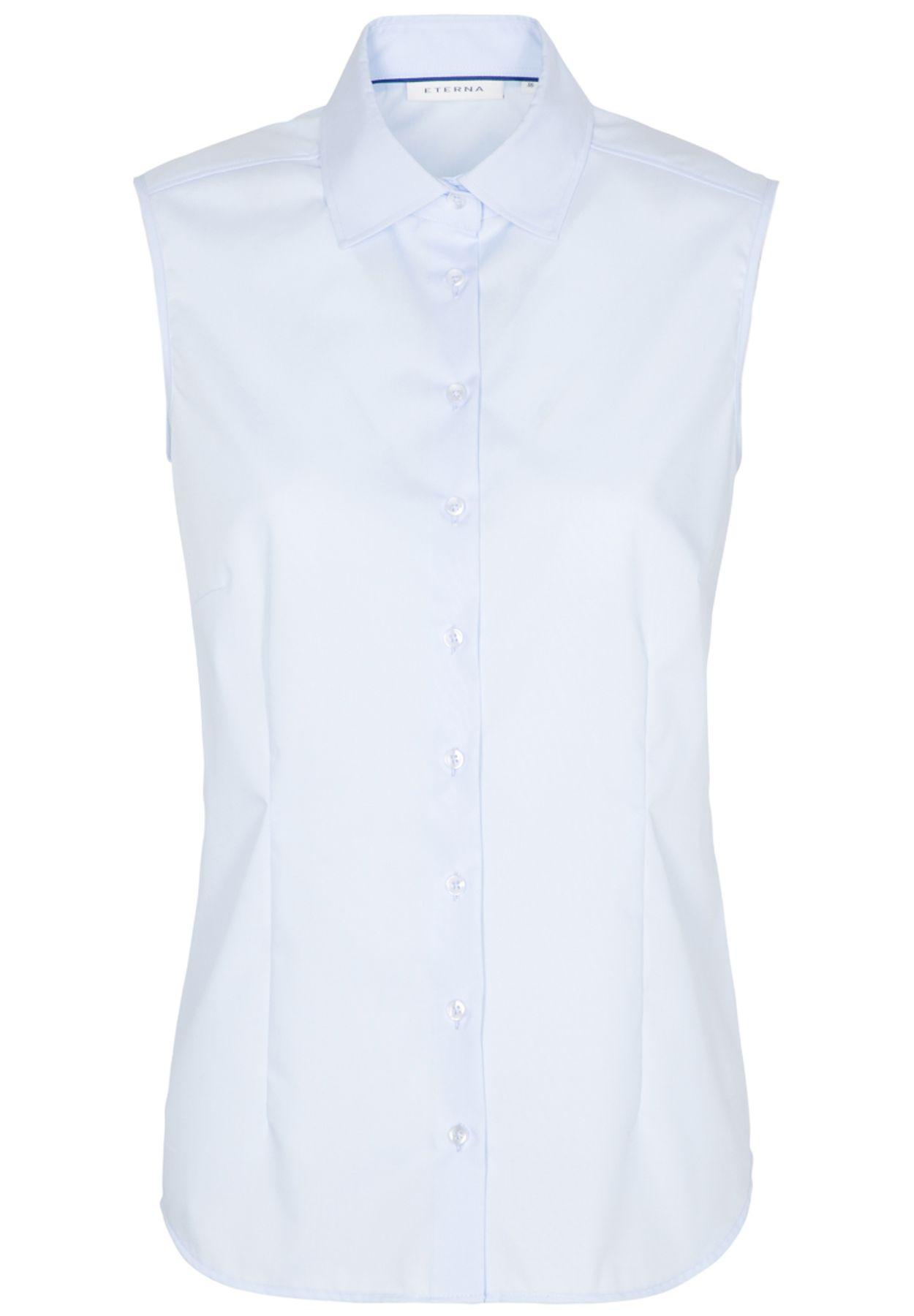 Eterna -  Comfort-Fit - Bügelfreie Damen Bluse ohne Arm in Weiß, Hellblau oder Rosa (5220 A790) – Bild 6