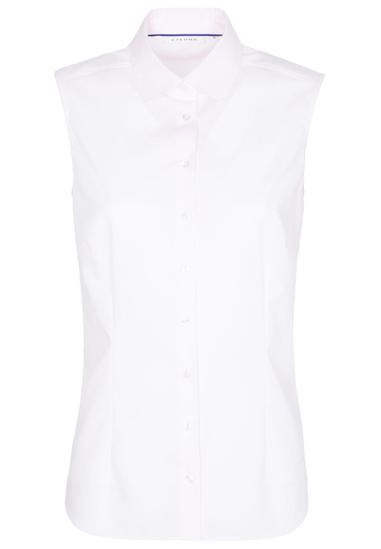 Eterna -  Comfort-Fit - Bügelfreie Damen Bluse ohne Arm in Weiß, Hellblau oder Rosa (5220 A790) – Bild 12