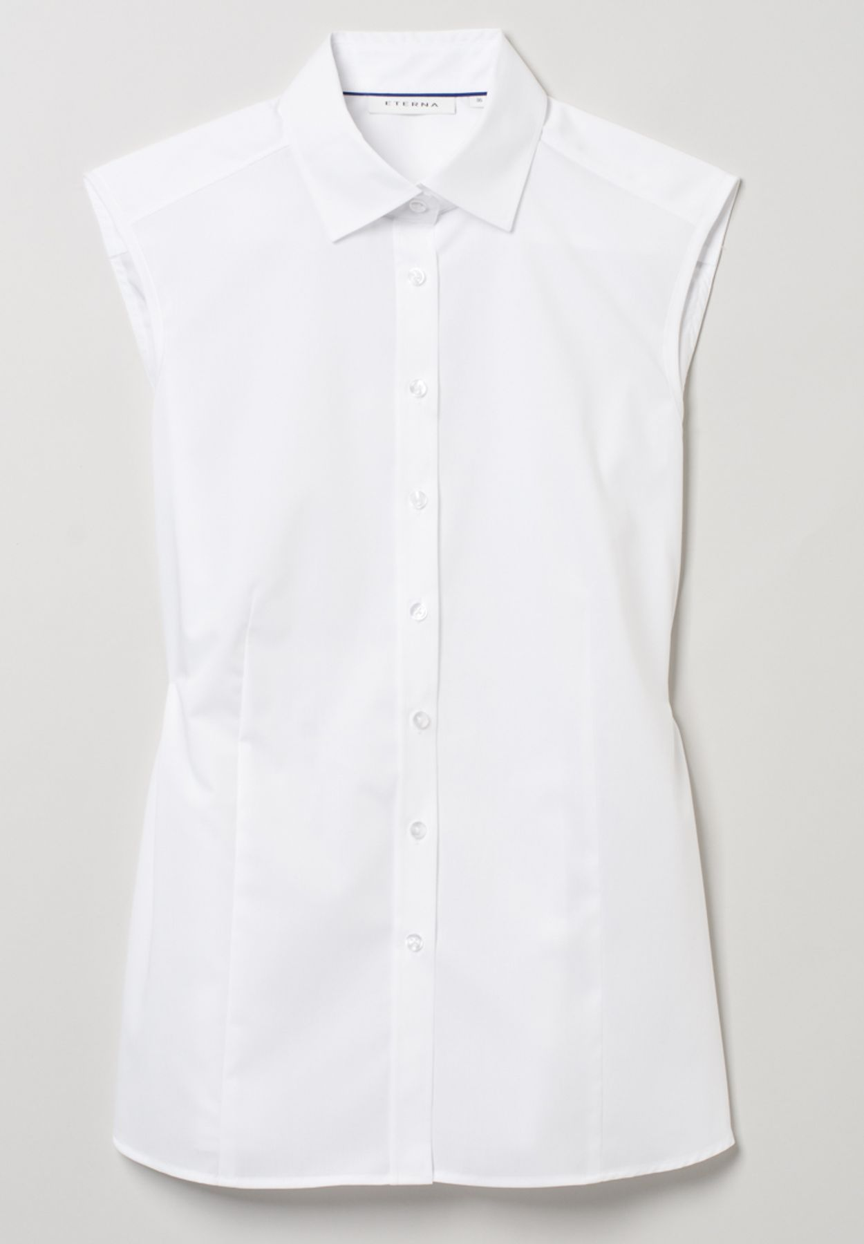Eterna -  Comfort-Fit - Bügelfreie Damen Bluse ohne Arm in Weiß, Hellblau oder Rosa (5220 A790) – Bild 17