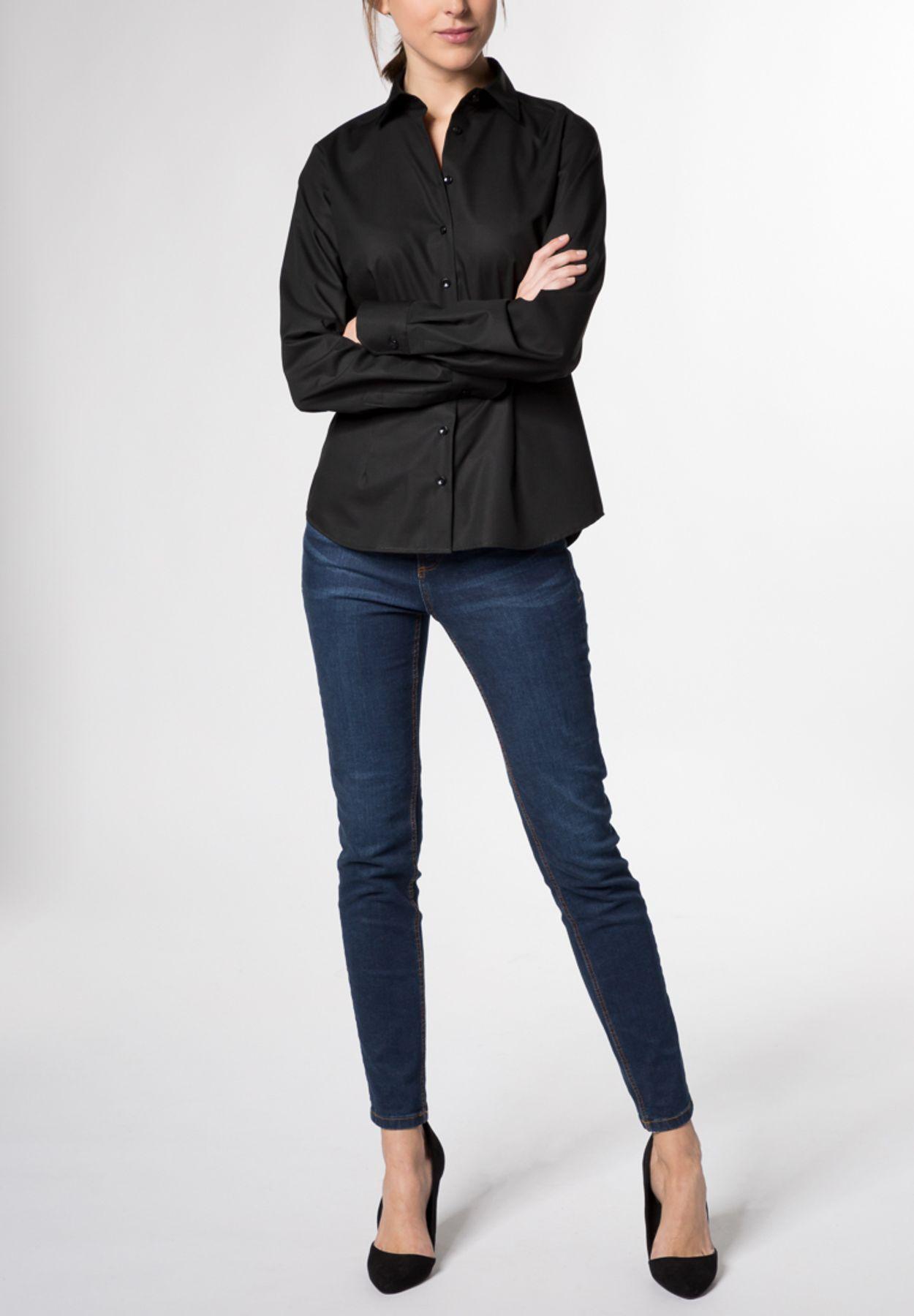 Eterna -  Comfort-Fit - Damen Langarm-Bluse Modern Classic Unifarben  (5220 D790) – Bild 14
