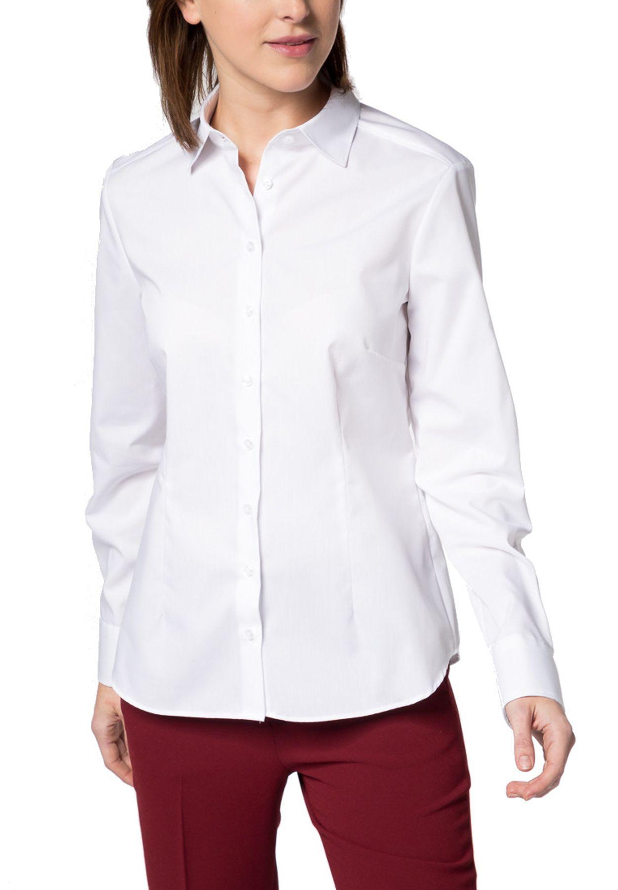 Eterna -  Comfort-Fit - Damen Langarm-Bluse Modern Classic Unifarben  (5220 D790) – Bild 1