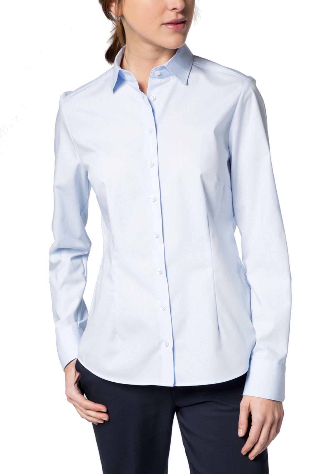 Eterna -  Comfort-Fit - Damen Langarm-Bluse Modern Classic Unifarben  (5220 D790) – Bild 7