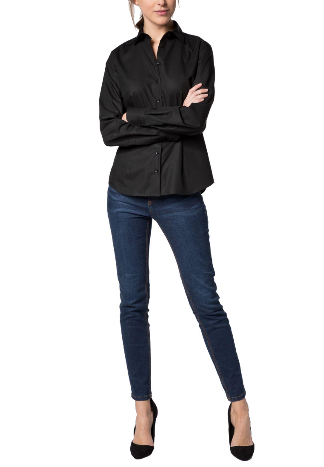 Eterna -  Comfort-Fit - Damen Langarm-Bluse Modern Classic Unifarben  (5220 D790) – Bild 13