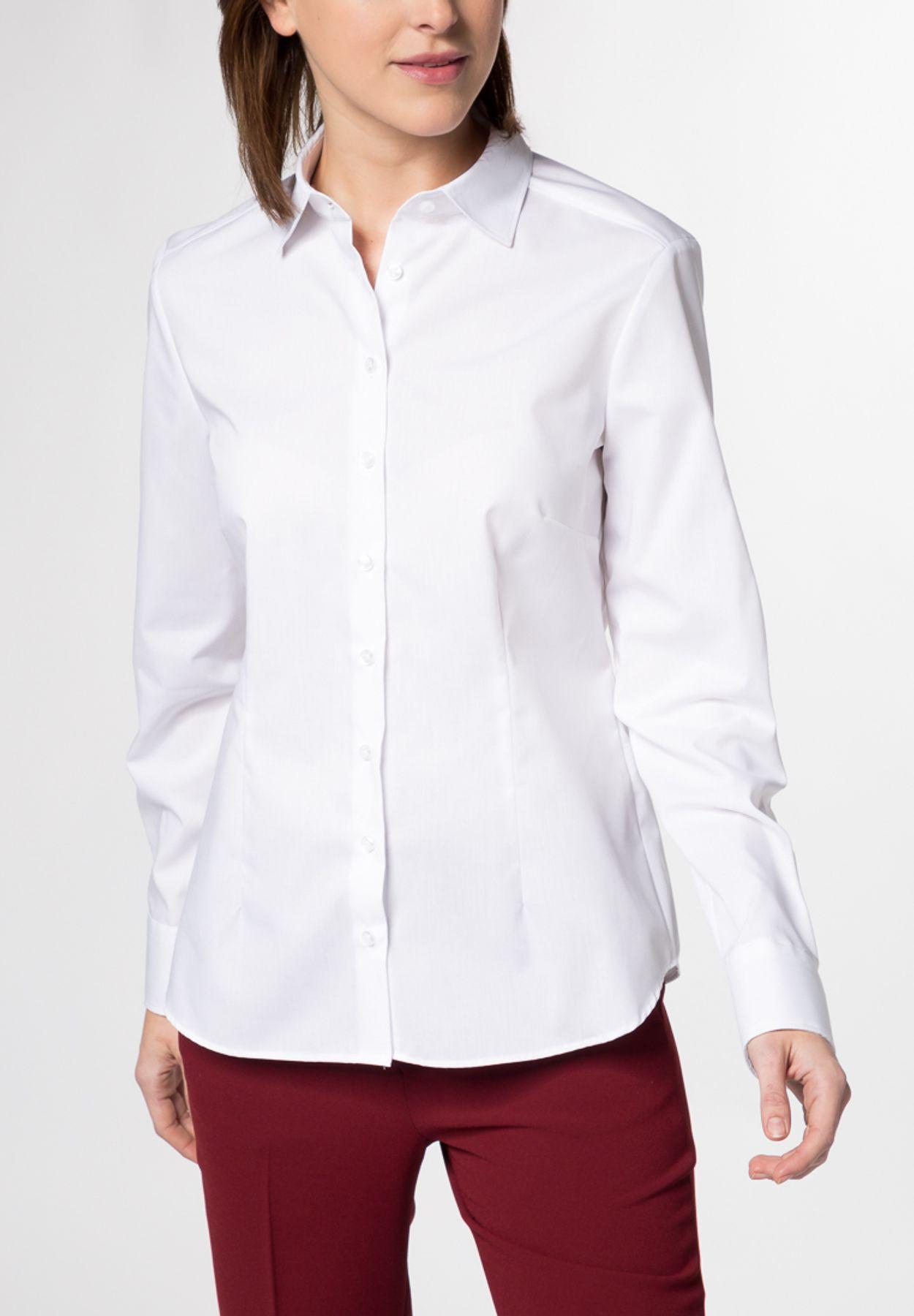 Eterna -  Comfort-Fit - Damen Langarm-Bluse Modern Classic Unifarben  (5220 D790) – Bild 2