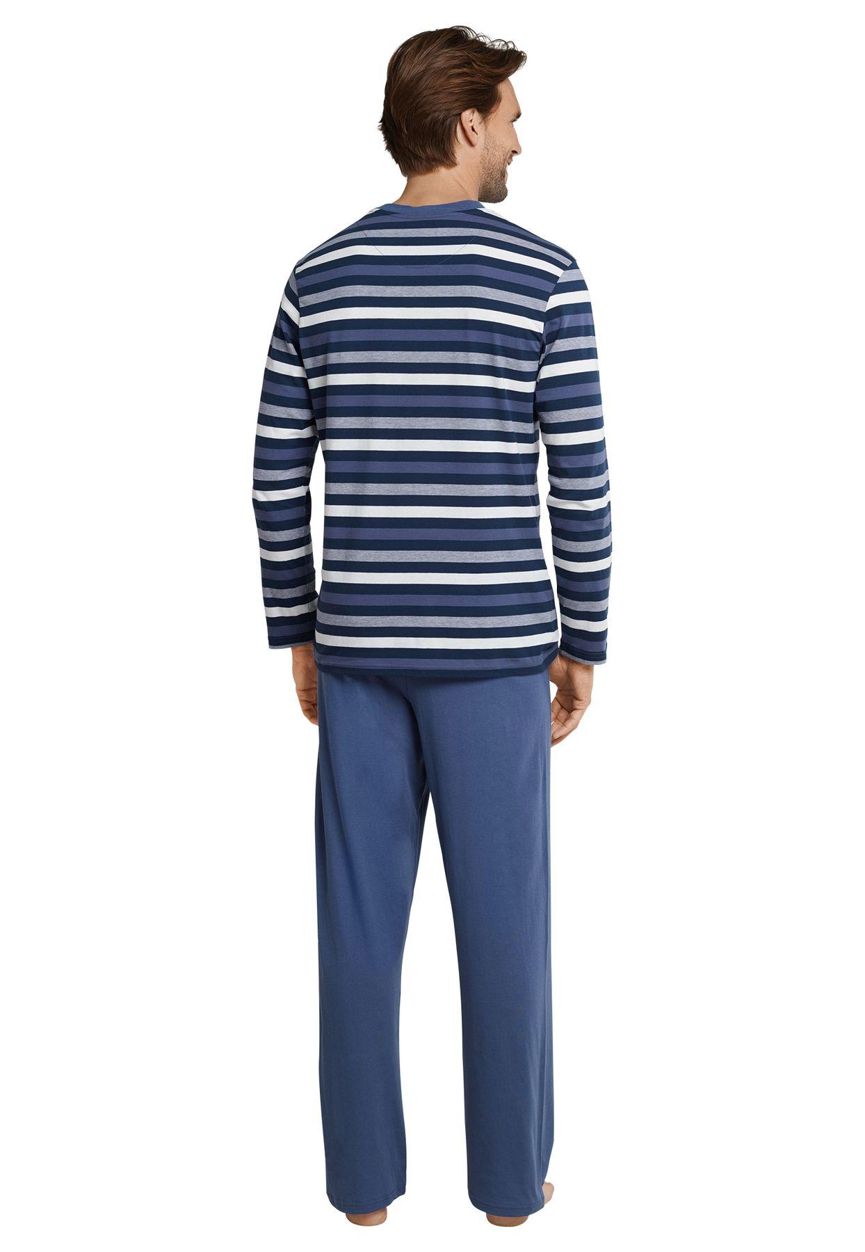 Seidensticker - Herren Pyjama lang, blau (161174) – Bild 2