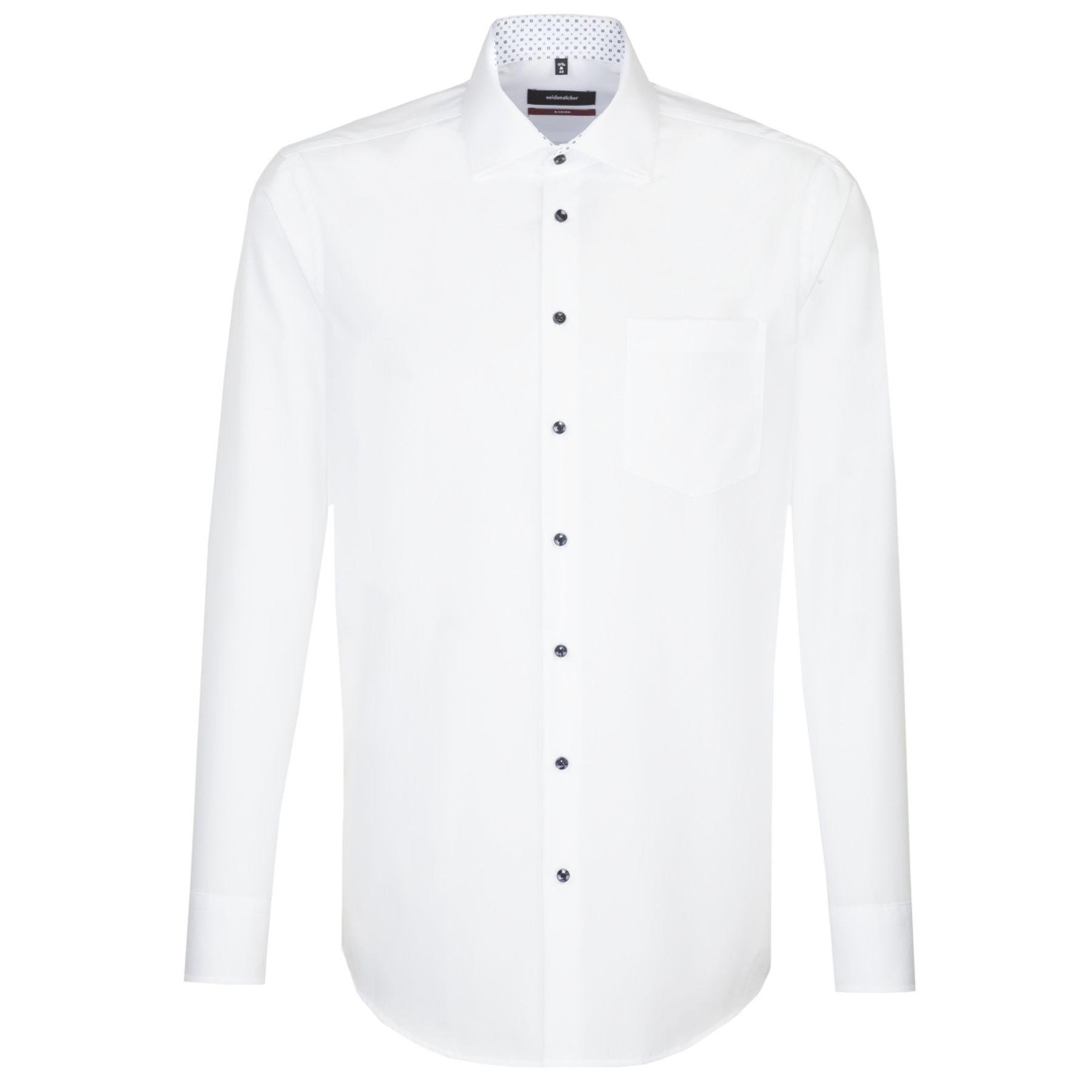 Seidensticker - Herren Hemd, Bügelfrei, Modern, Schwarze Rose mit Kent Kragen in Weiß (01.115950) – Bild 1