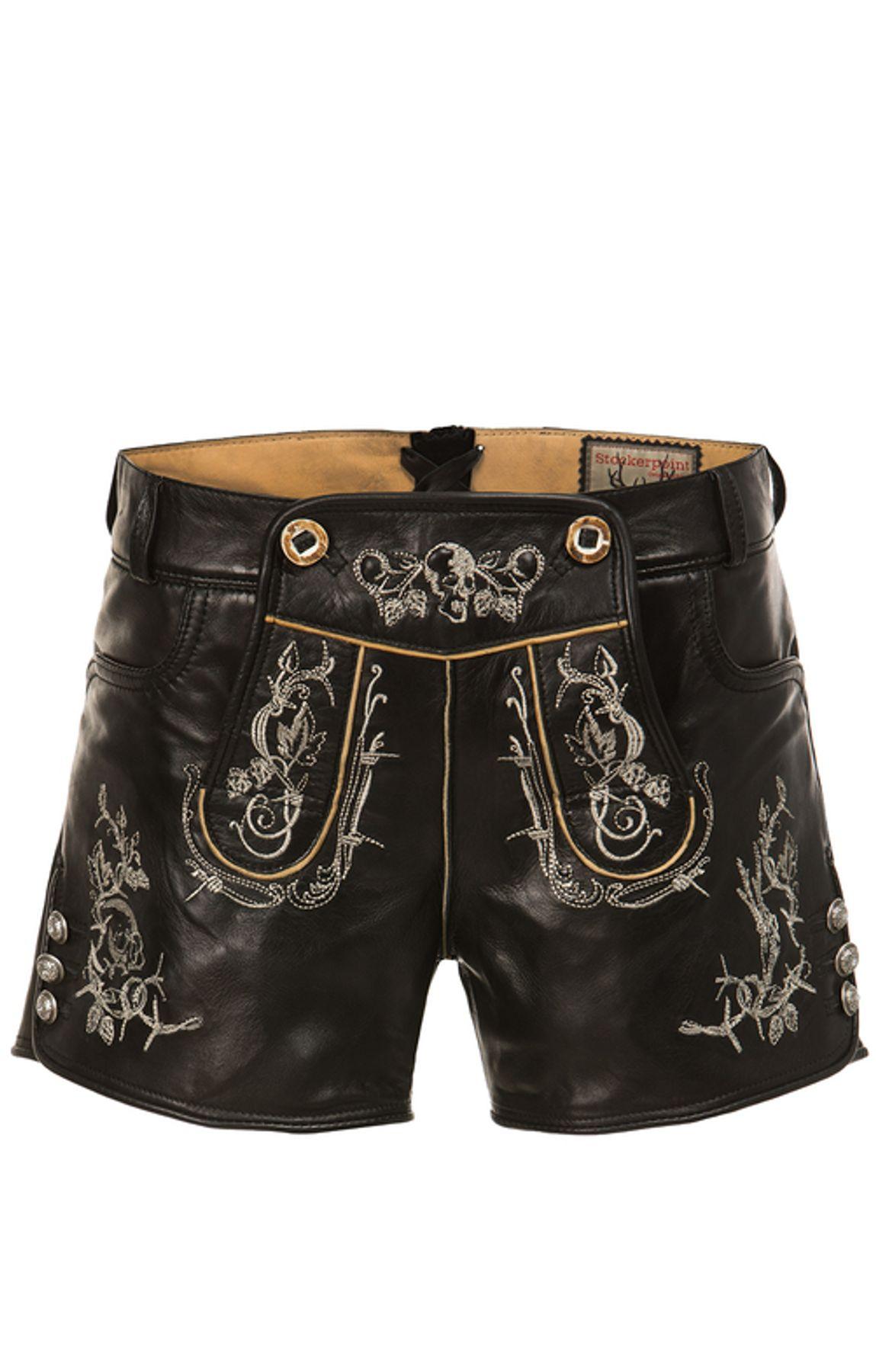 Stockerpoint - Damen Trachten Lederhose kurz, Jary – Bild 3