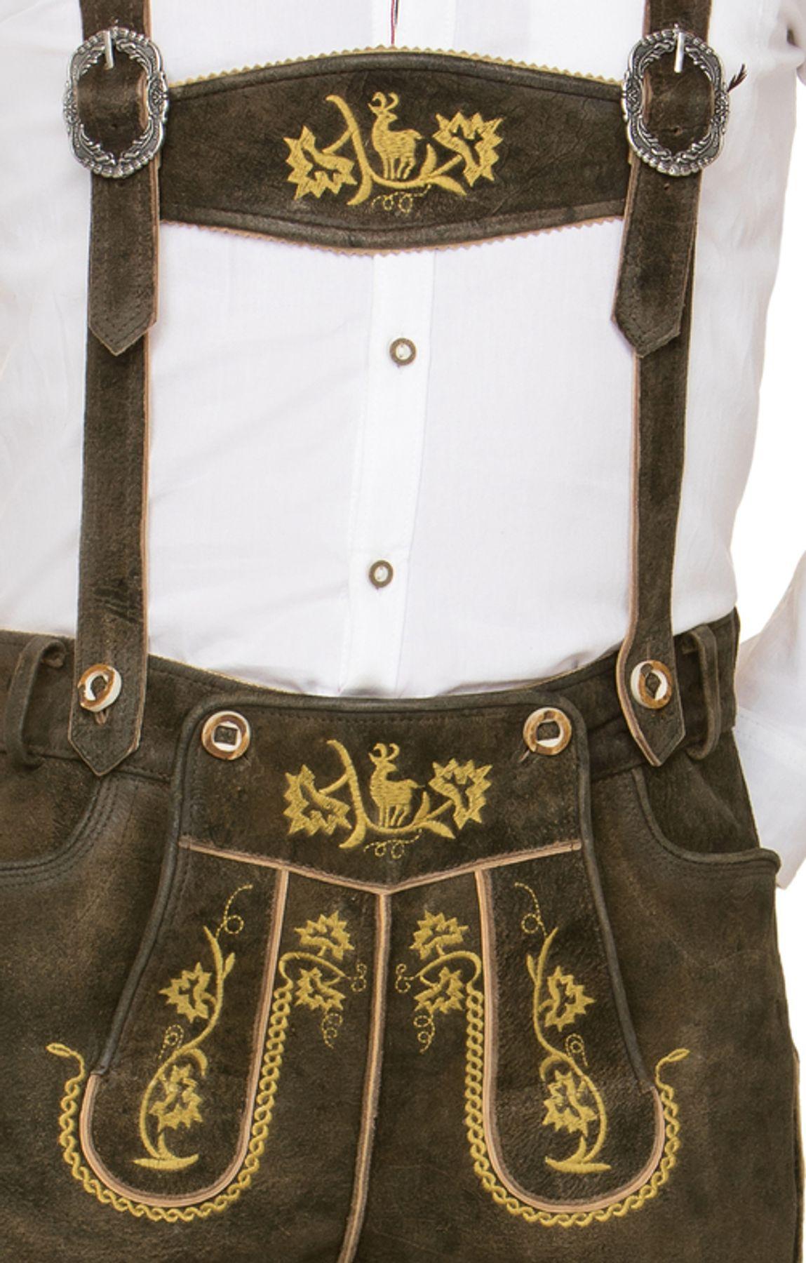 Stockerpoint - Herren Trachten Lederhose mit Träger, in verschiedenen Farben, Edgar – Bild 14