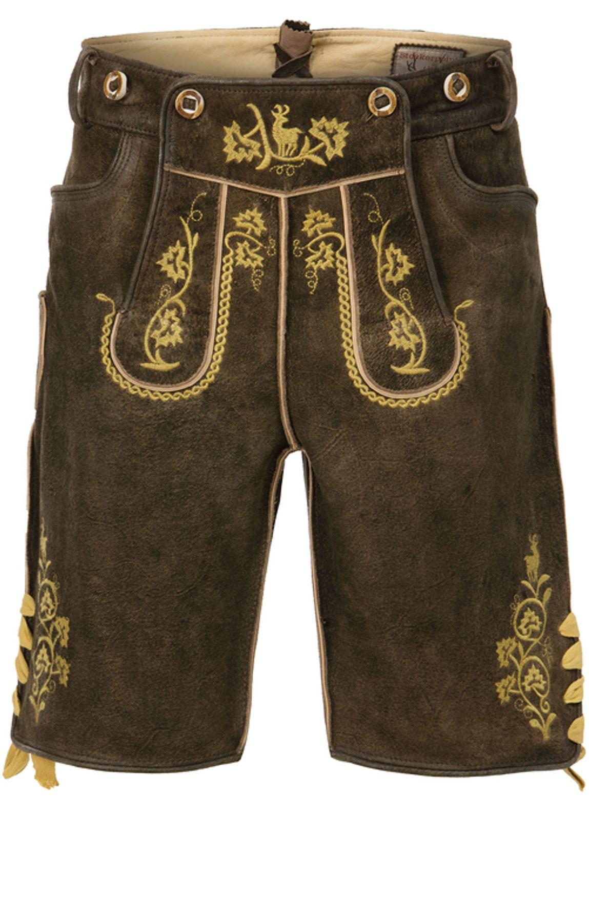 Stockerpoint - Herren Trachten Lederhose mit Träger, in verschiedenen Farben, Edgar – Bild 24